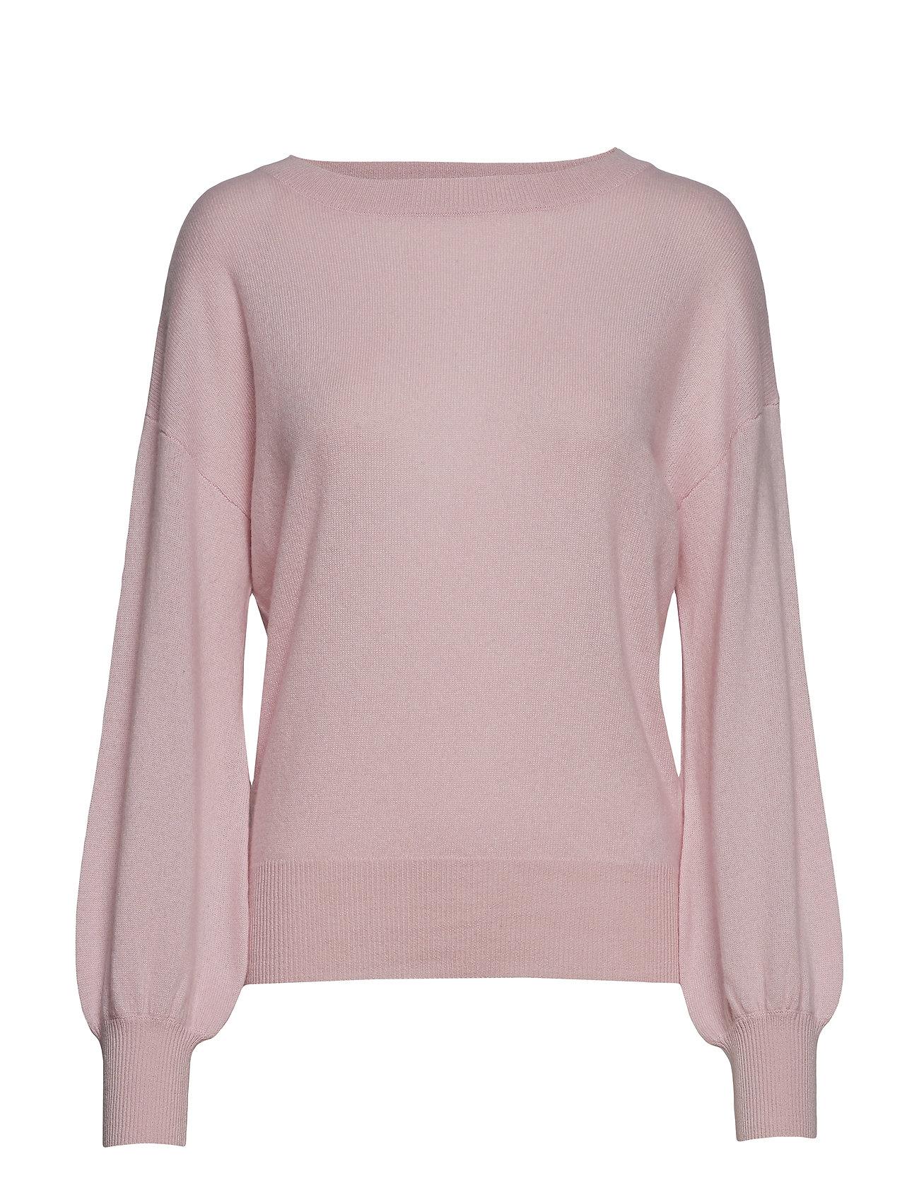 Davida Cashmere Balloon Sleeve Sweater - LIGHT PINK
