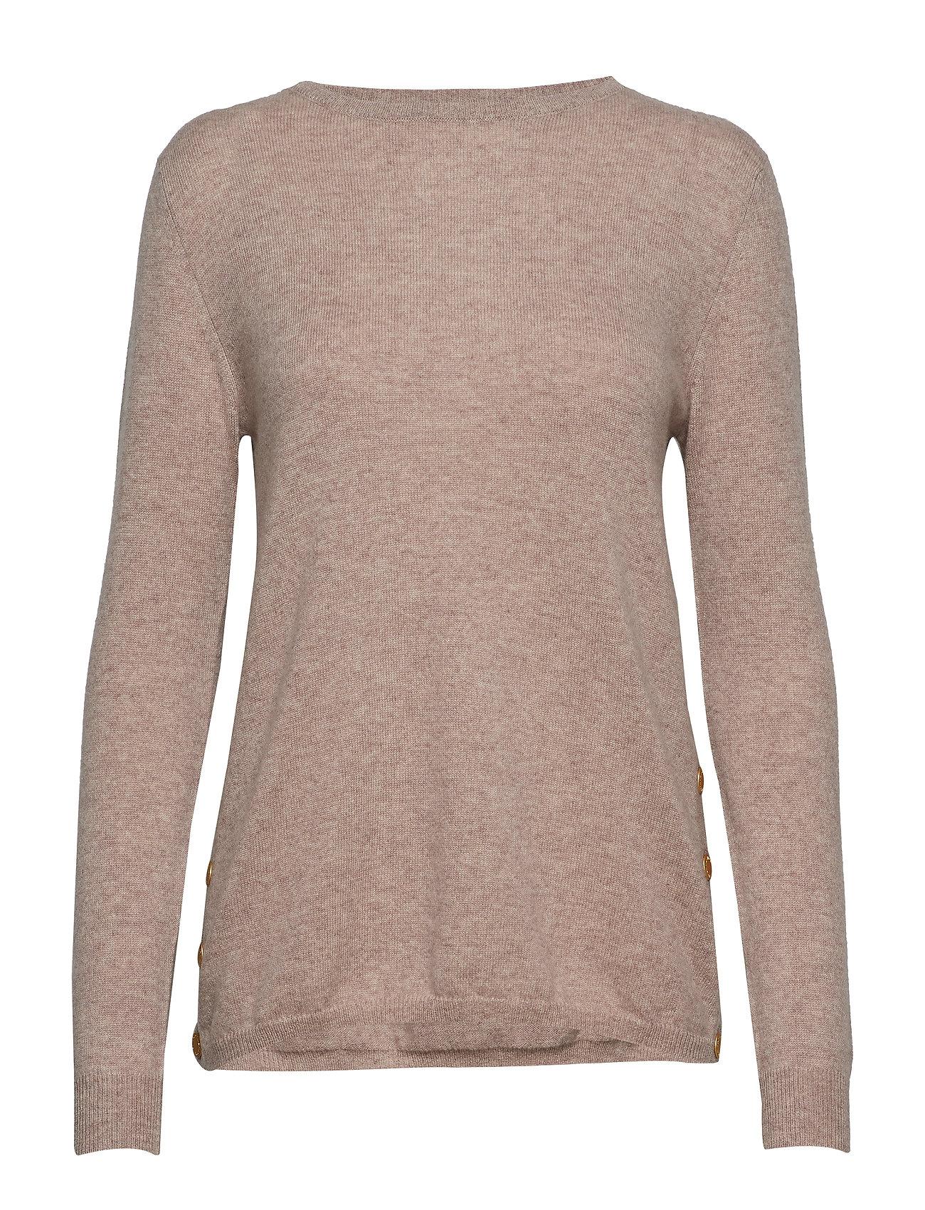 Davida Cashmere Side Buttons Sweater - SAND