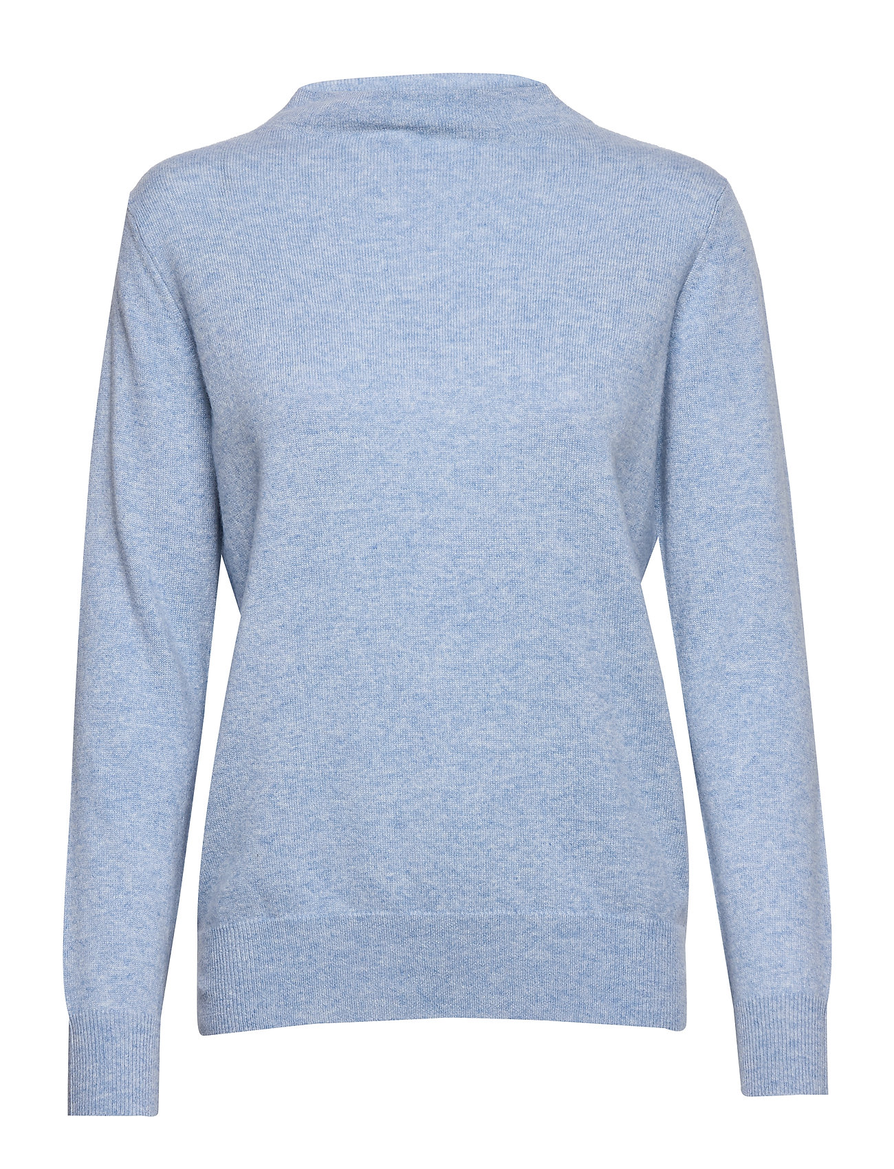 Davida Cashmere Funnel Neck Sweater - LIGHT BLUE