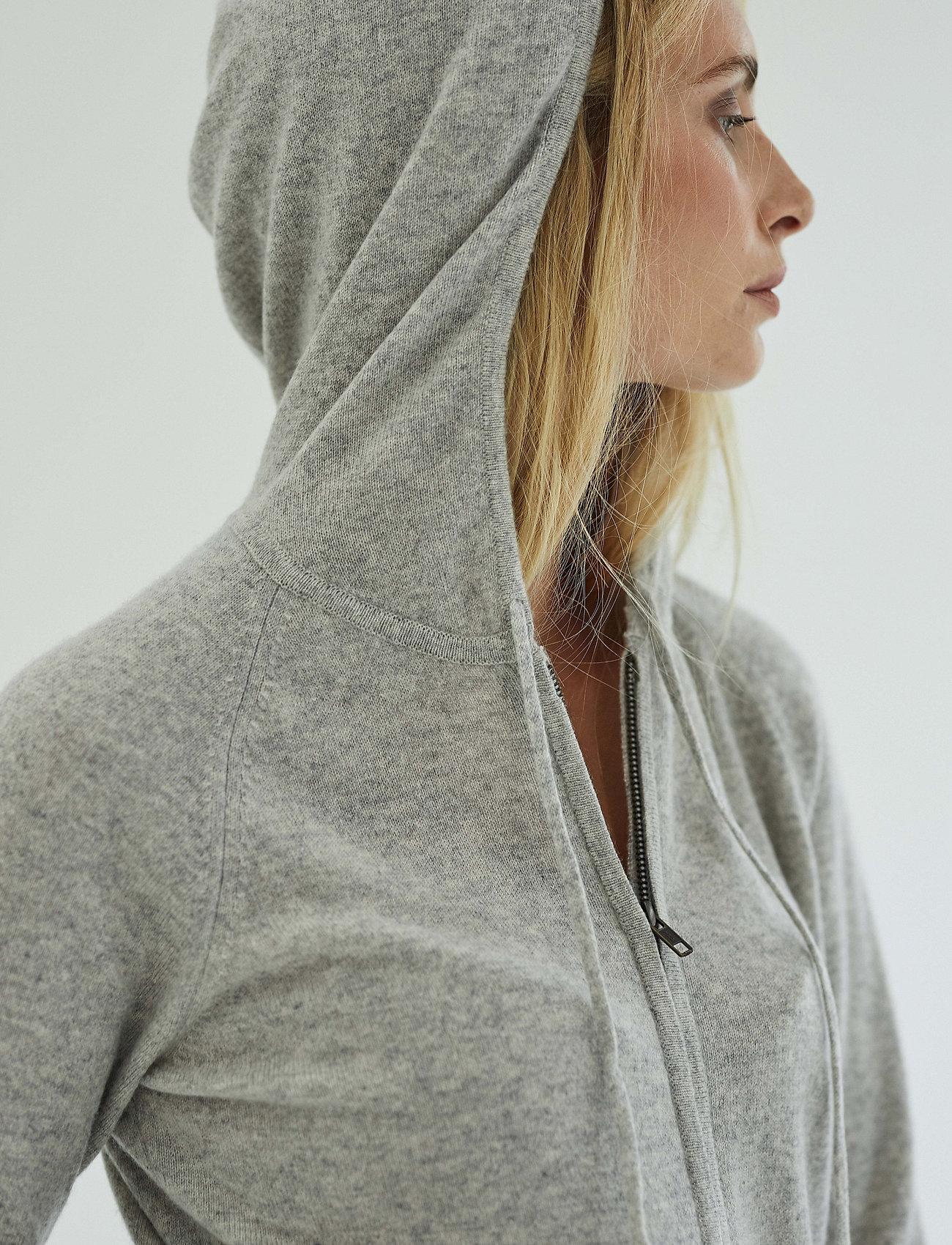 Davida Cashmere - Hoodie - sweatshirts & hoodies - light grey - 0