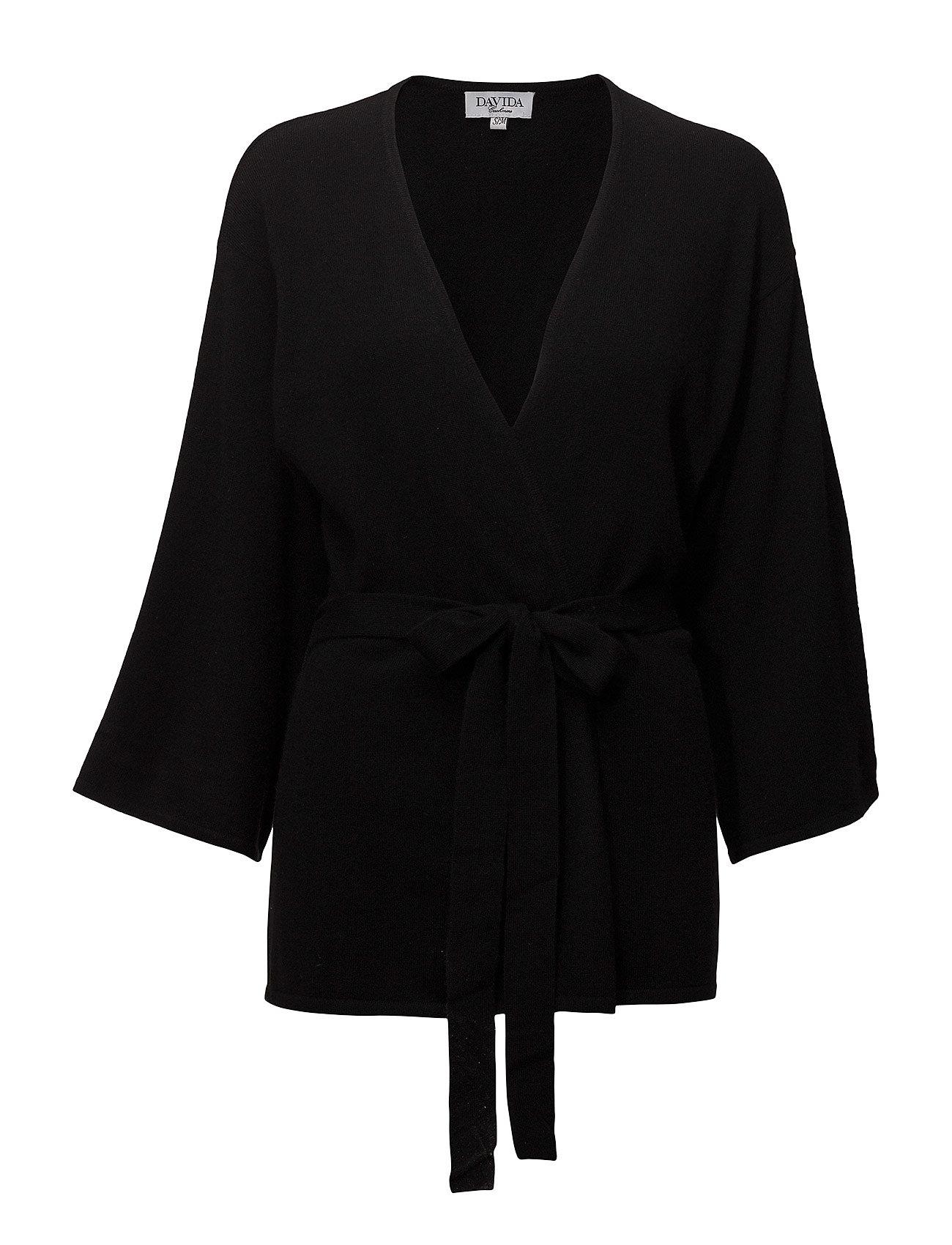 Davida Cashmere Kimono - BLACK