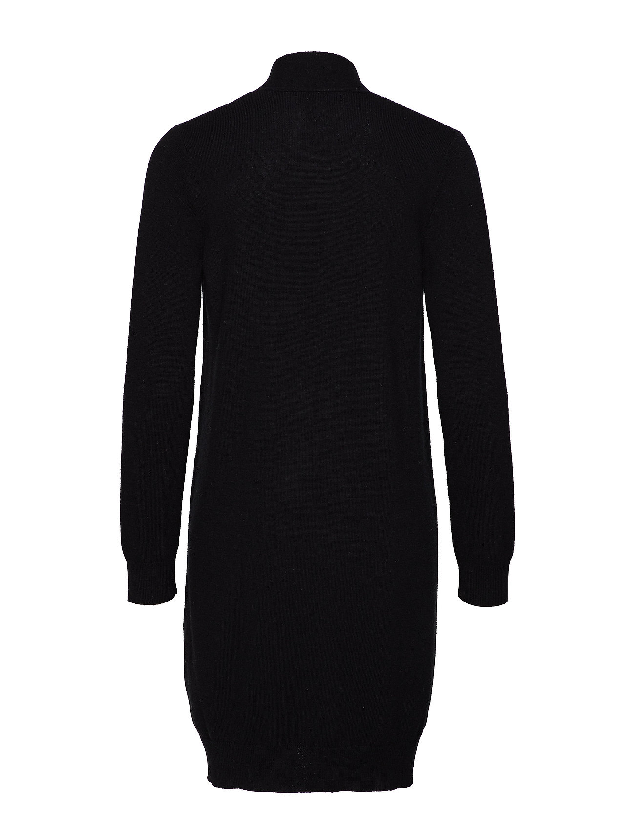 Davida Cashmere Pocket Long Cardigan - BLACK