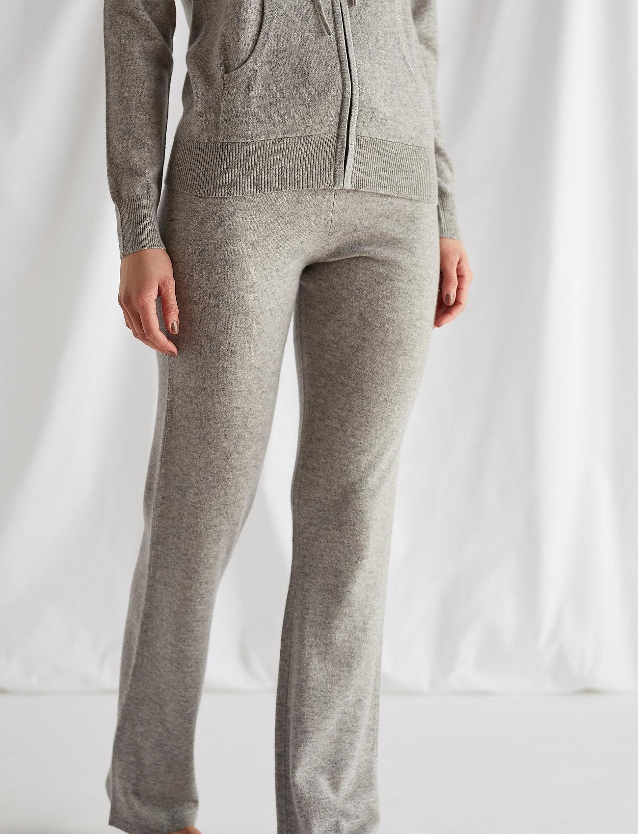 Davida Cashmere - Pants - bukser med brede ben - light grey - 0