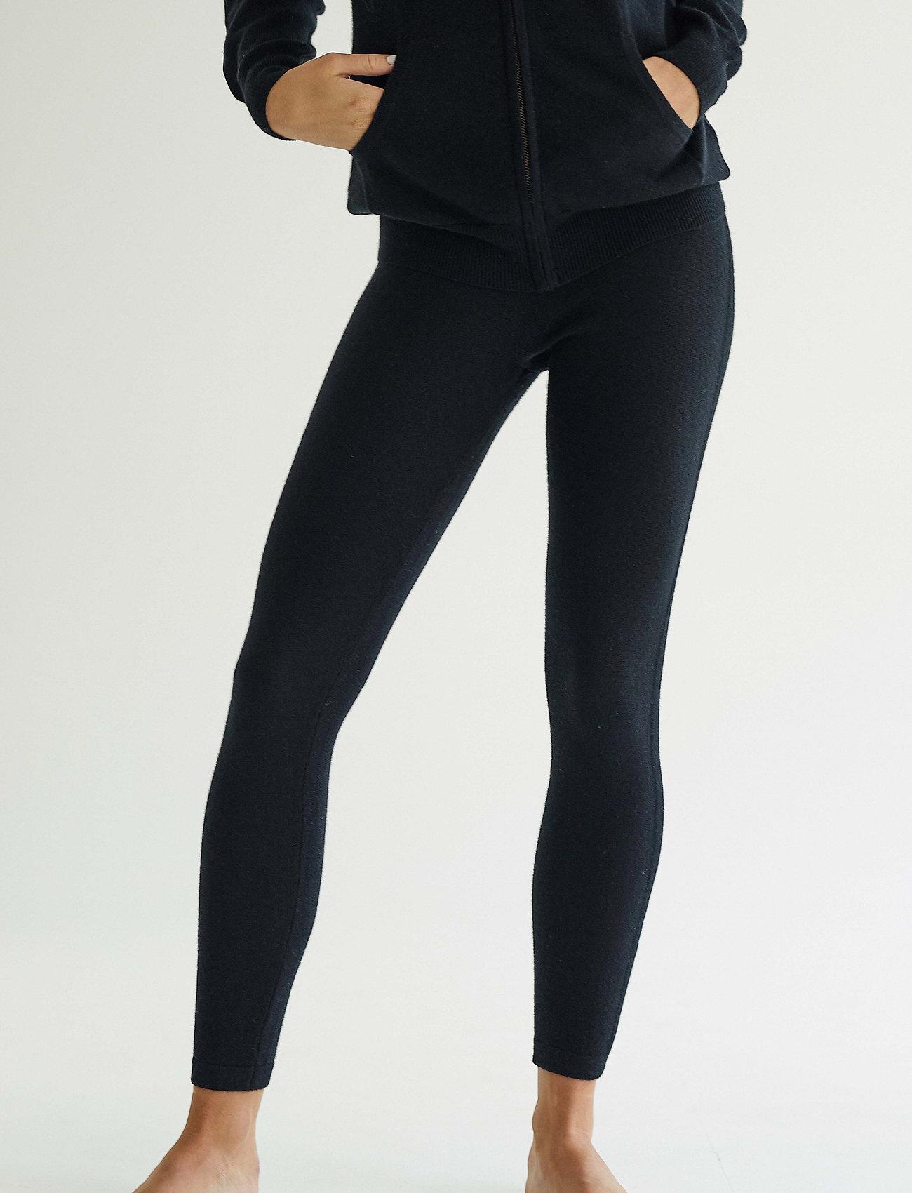 Davida Cashmere - Panel Leggings - leggings - black - 0