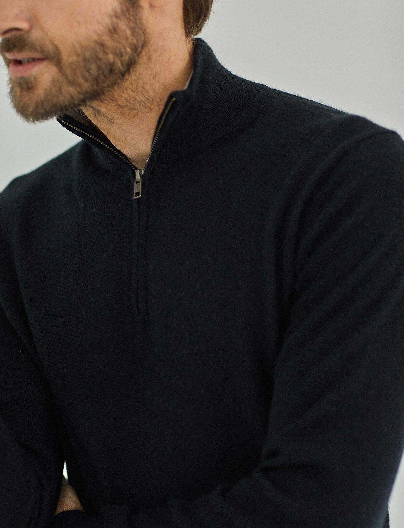 Davida Cashmere - Man Half Zip - half zip - black - 0
