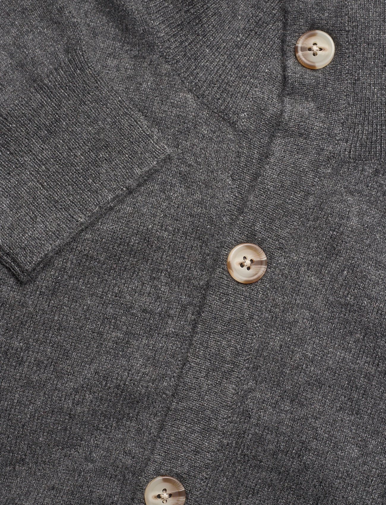Davida Cashmere Man Cardigan Buttons - Strikkevarer DARK GREY - Menn Klær
