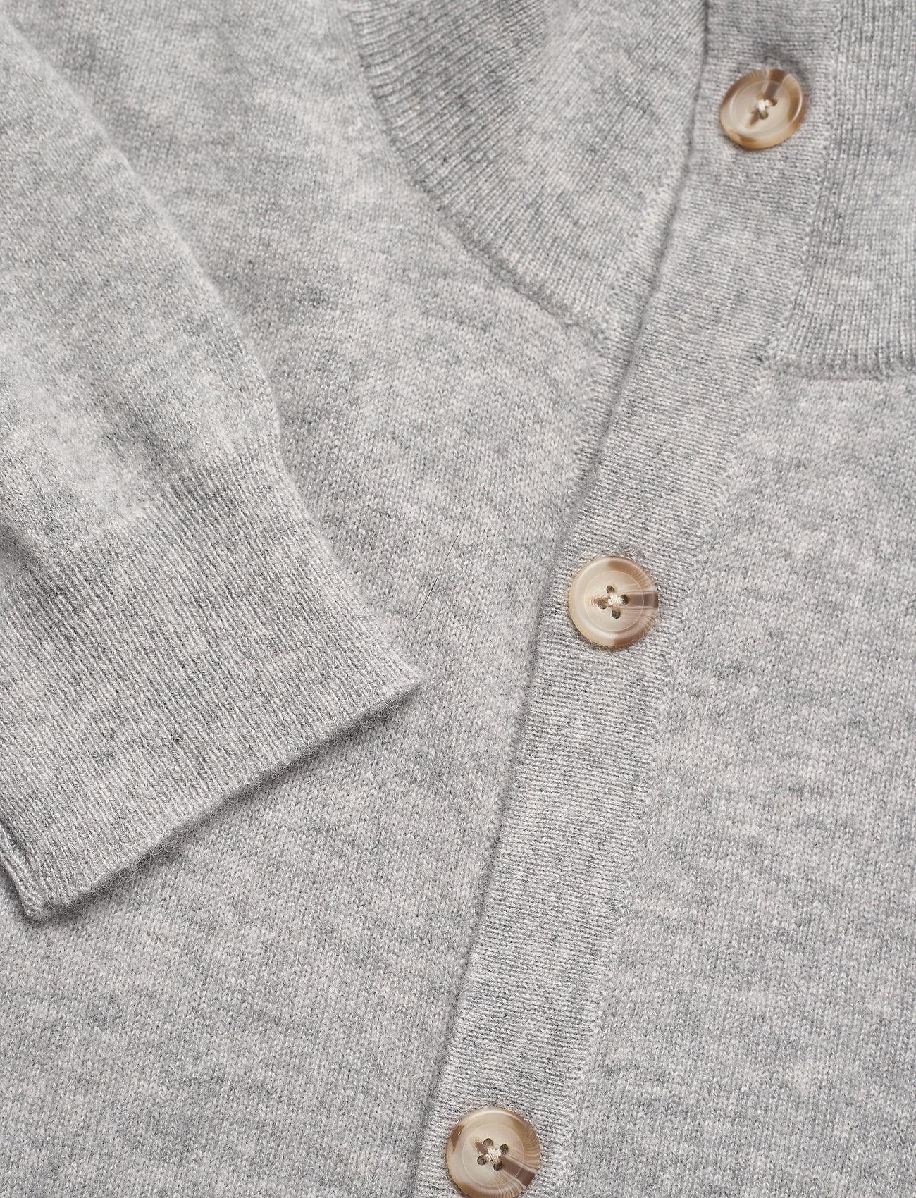 Davida Cashmere Man Cardigan Buttons - Strikkevarer LIGHT GREY - Menn Klær