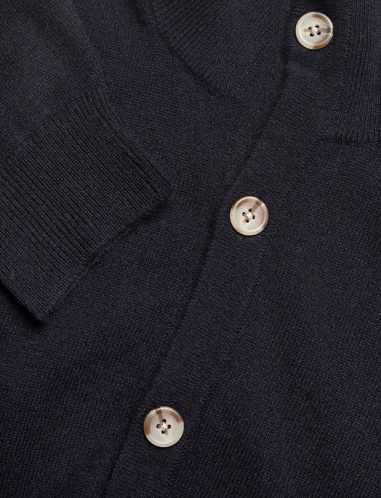 Davida Cashmere Man Cardigan Buttons - Strikkevarer NAVY - Menn Klær