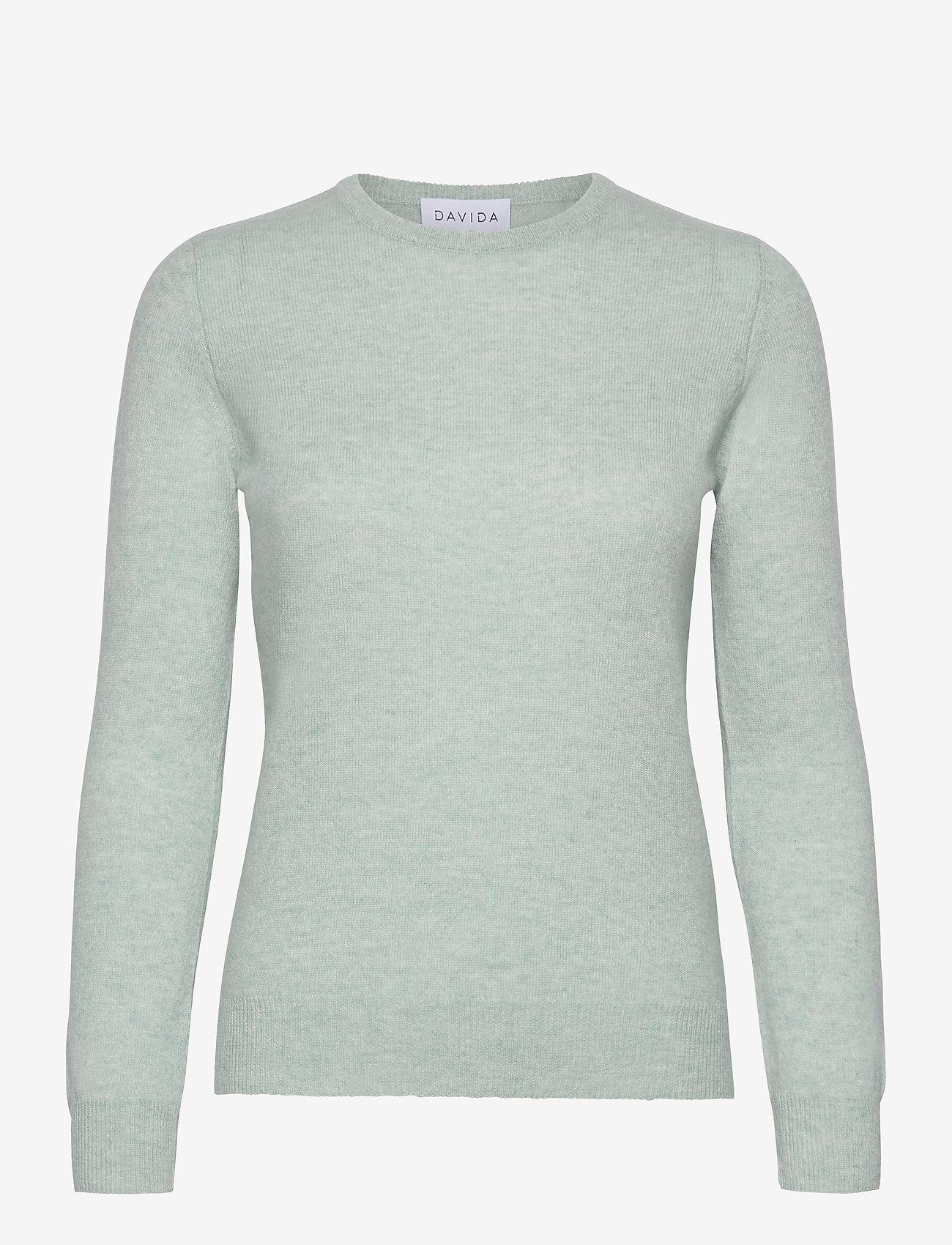 Davida Cashmere - Basic sweater - jumpers - light green - 0