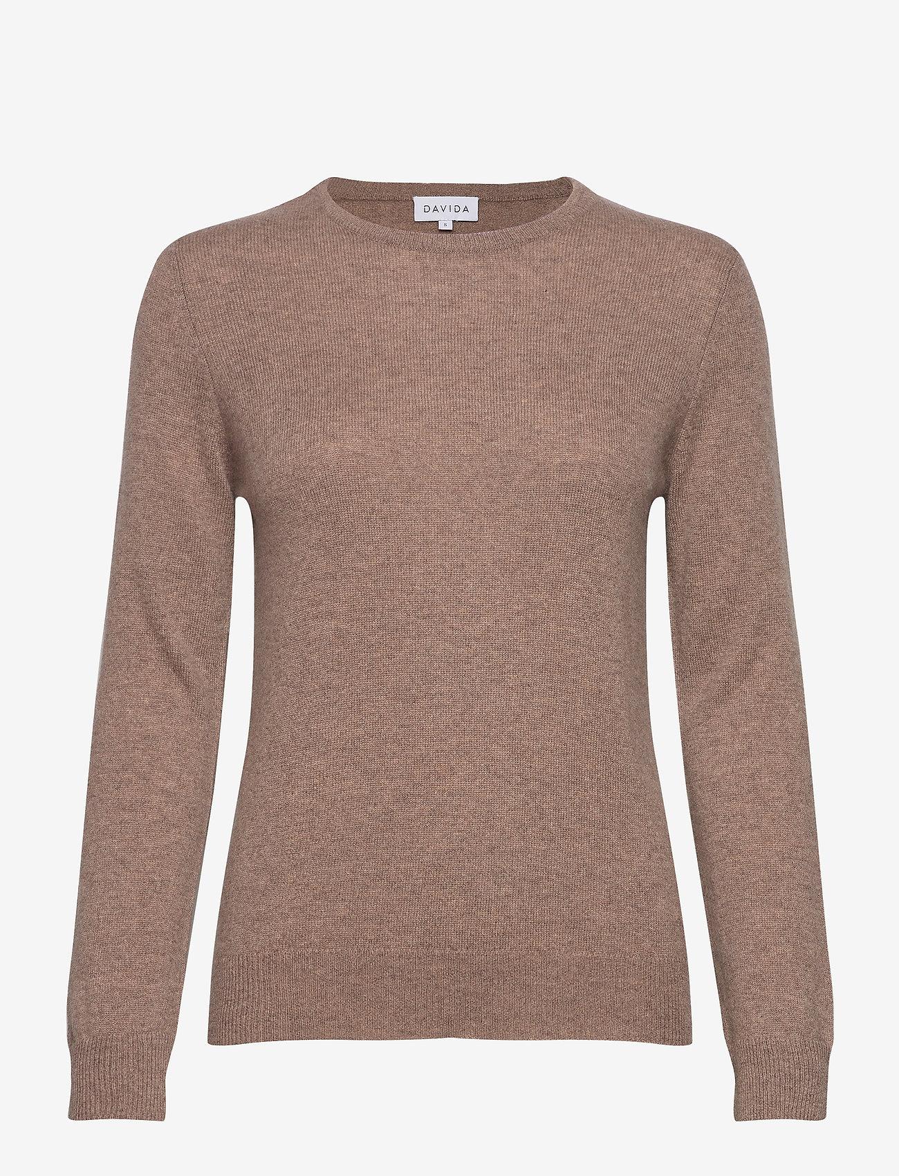 Davida Cashmere - Basic sweater - sweaters - mink - 1