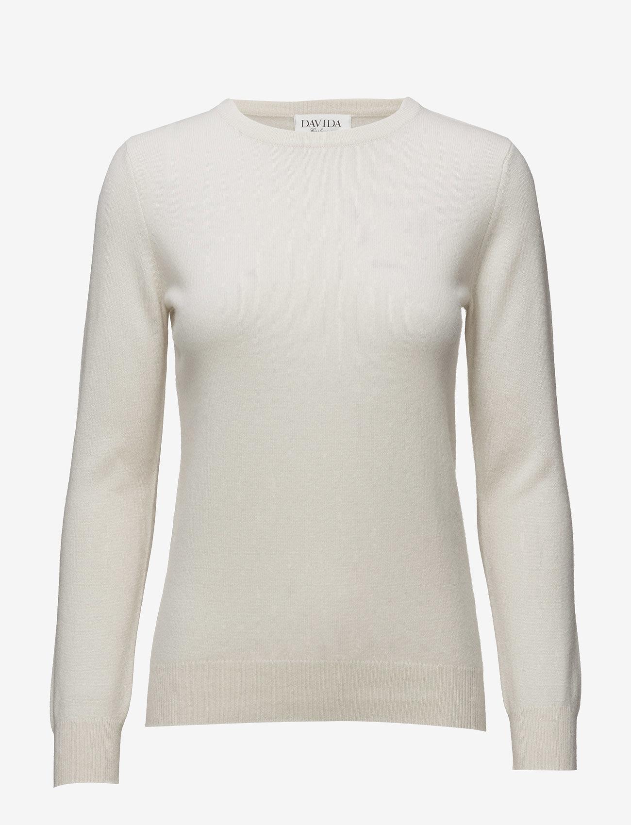 Davida Cashmere - Basic sweater - sweaters - white - 0