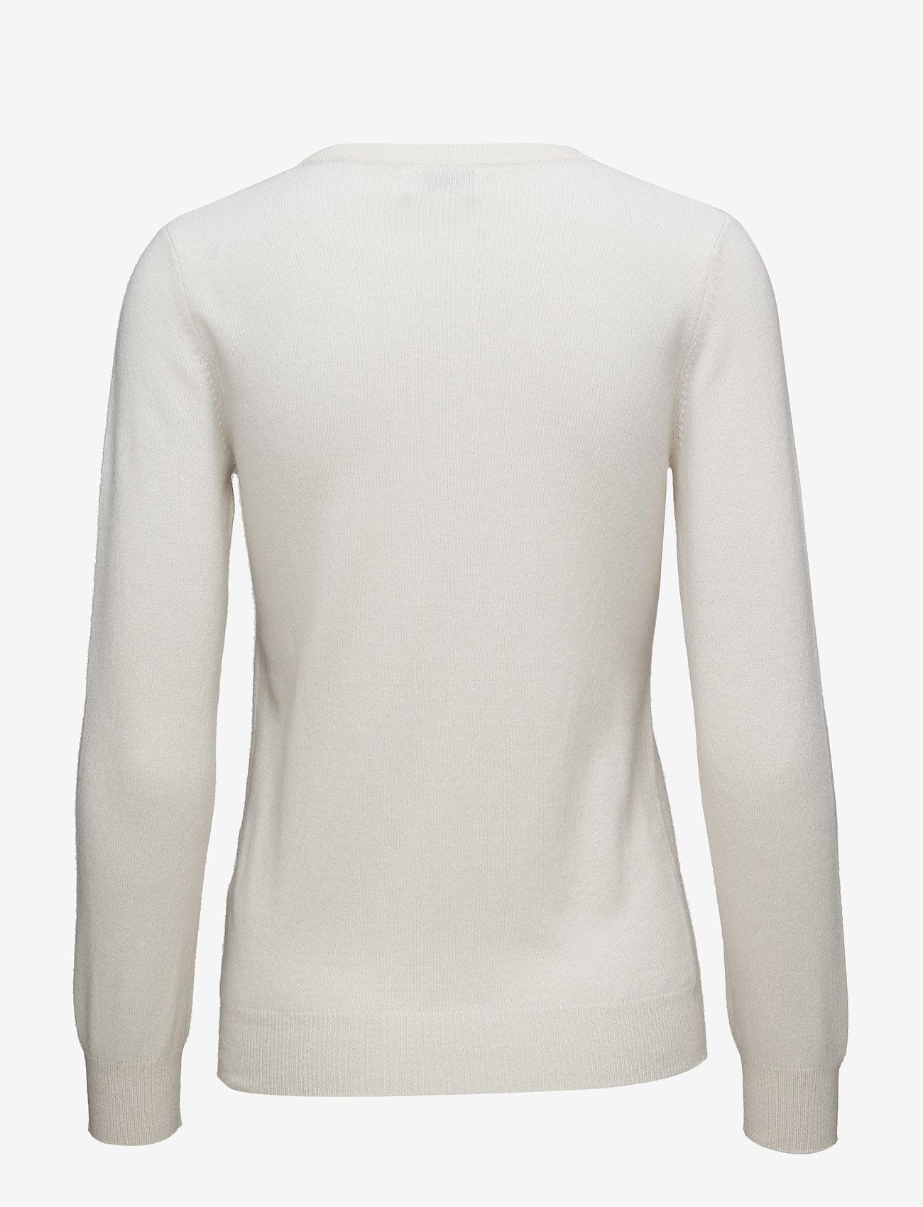 Davida Cashmere - Basic sweater - sweaters - white - 1