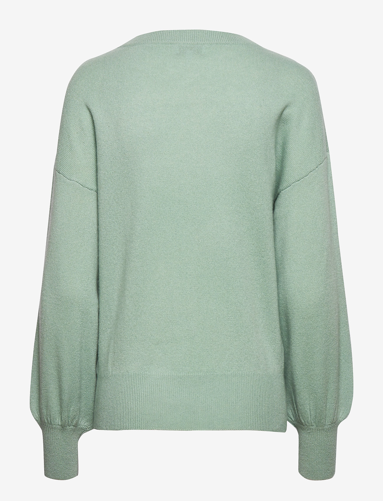 Balloon Sleeve Sweater (Dusty Green) - Davida Cashmere 2rlRgP
