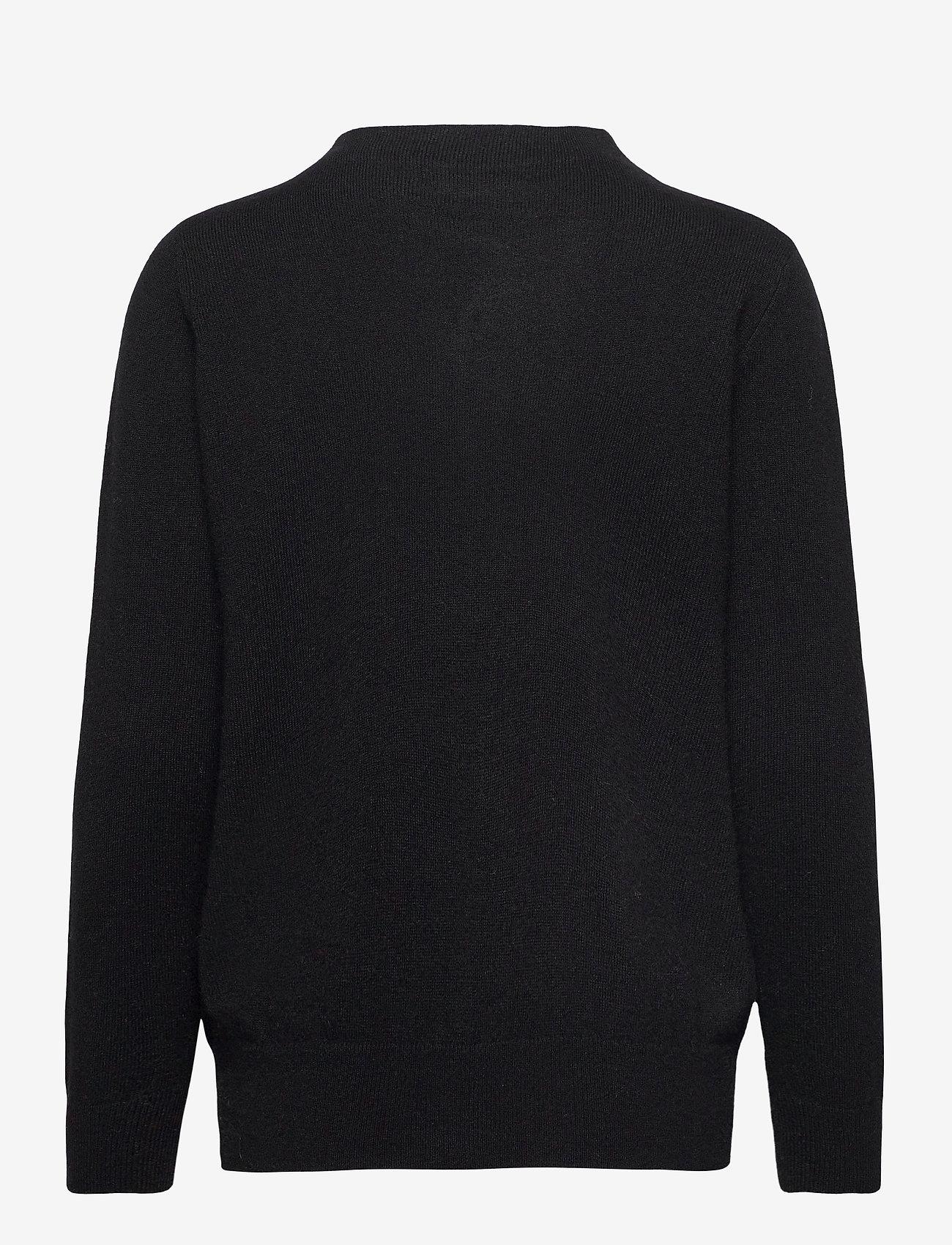 Davida Cashmere - Funnel Neck Sweater - sweaters - black - 1