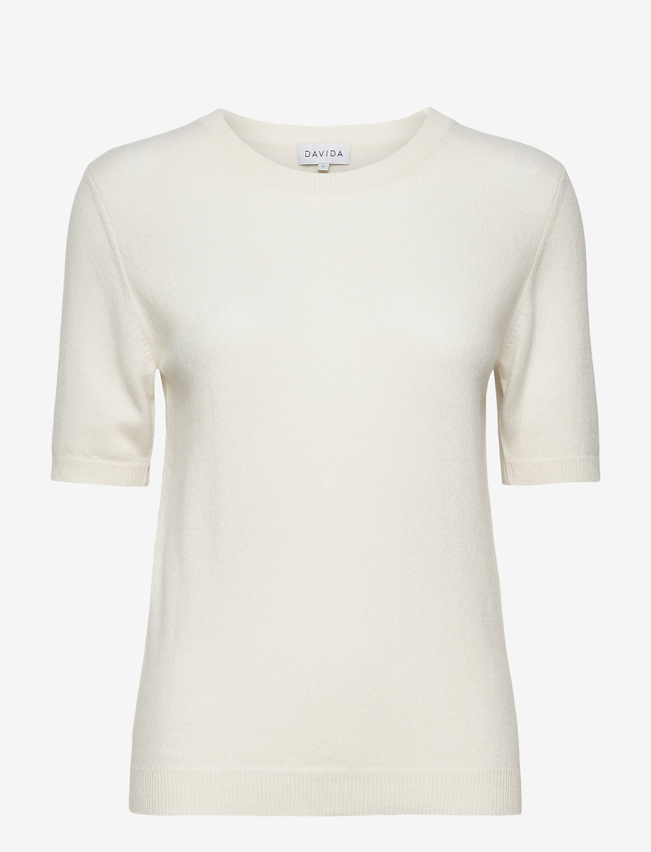 Davida Cashmere - T-shirt Oversized - gebreide t-shirts - white - 1
