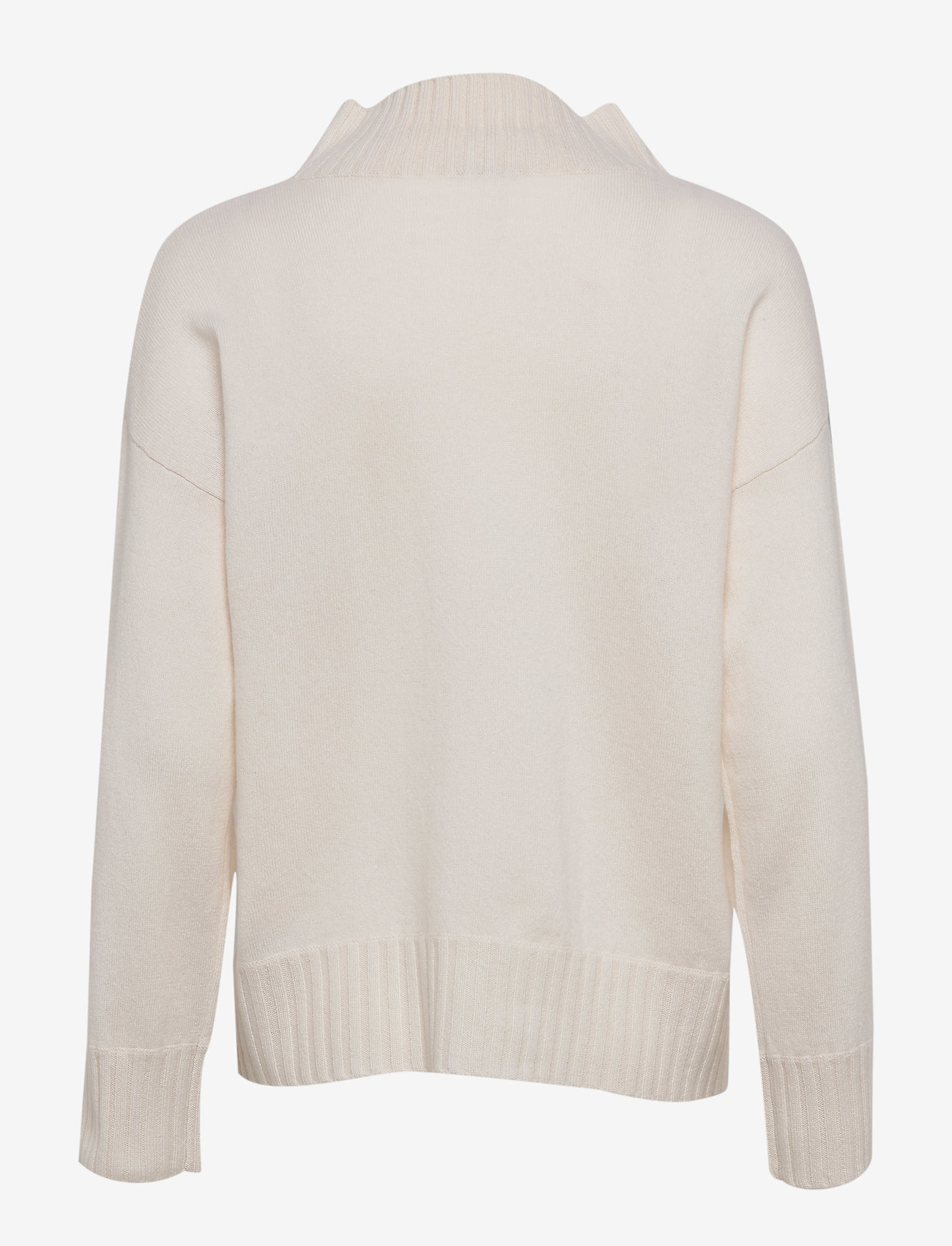 Davida Cashmere - High Neck Sweater - kashmir - white