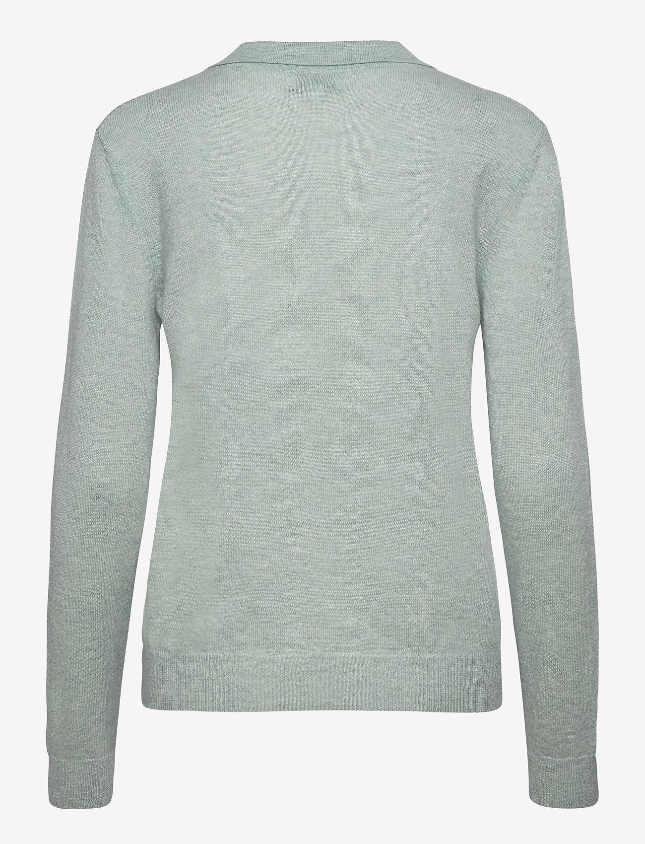 Davida Cashmere - Open Collar Sweater - sweaters - light green - 1