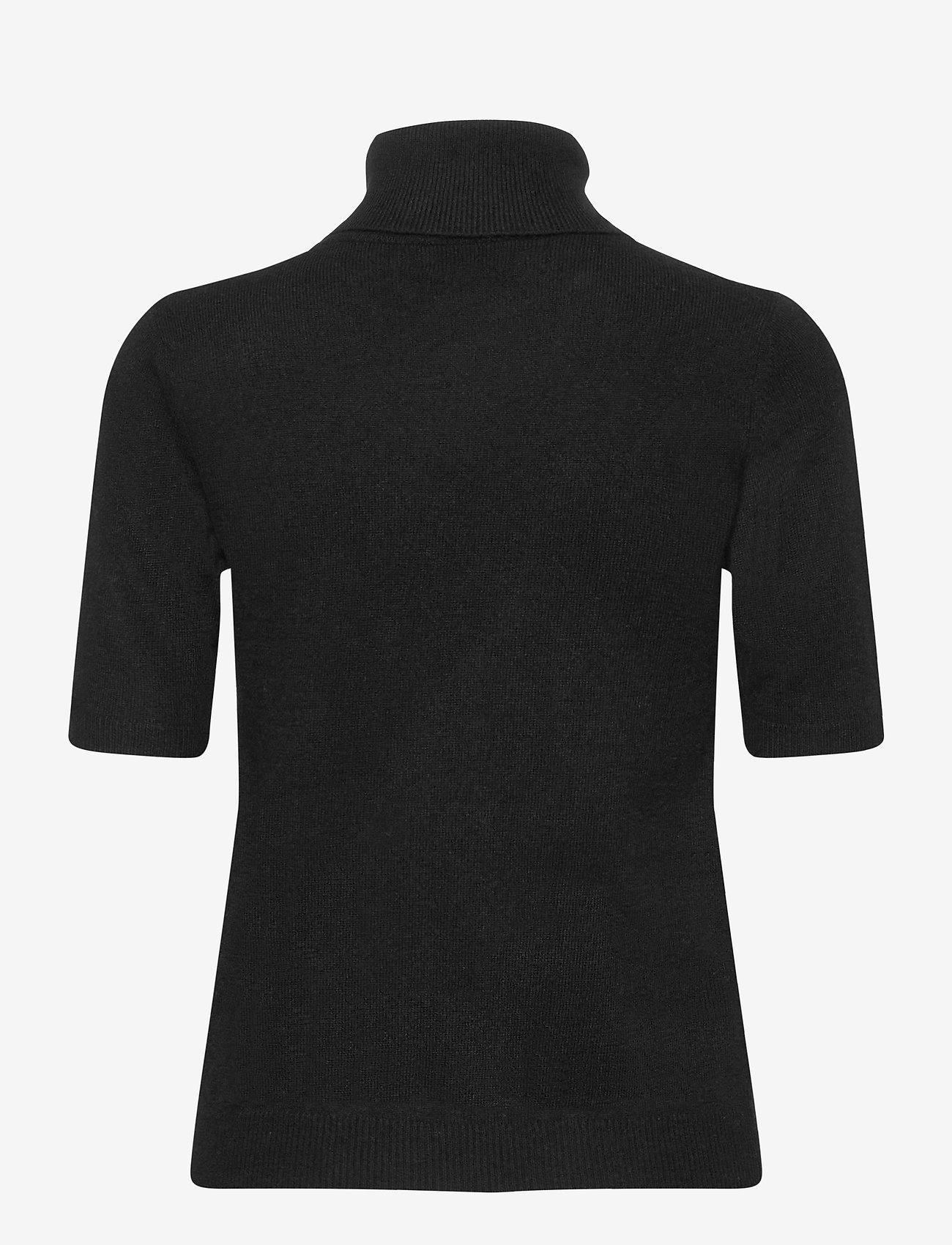 Davida Cashmere - Turtleneck T-shirt - knitted tops - black - 1