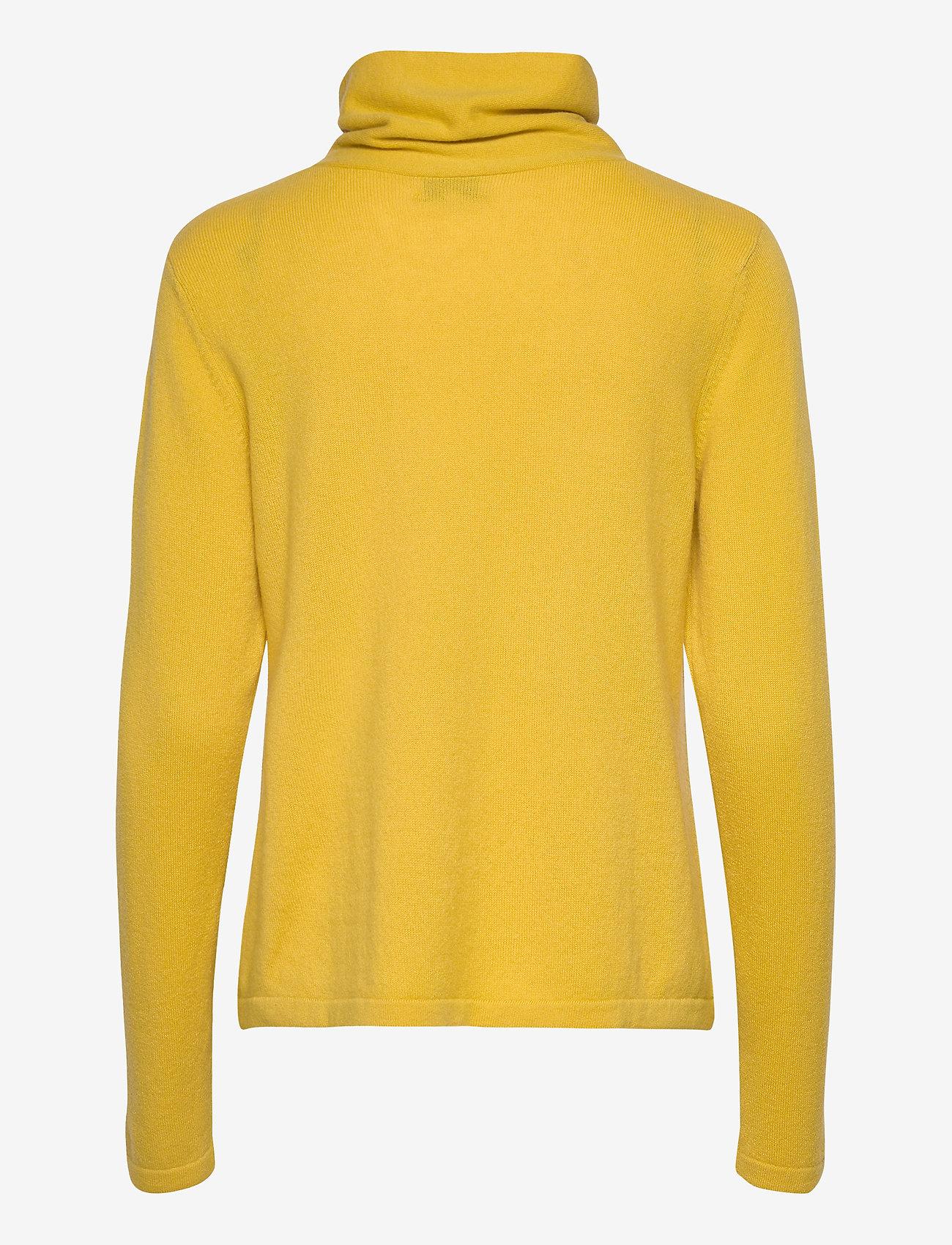 Fold Neck Sweater (Yellow) - Davida Cashmere 1Uwqxg