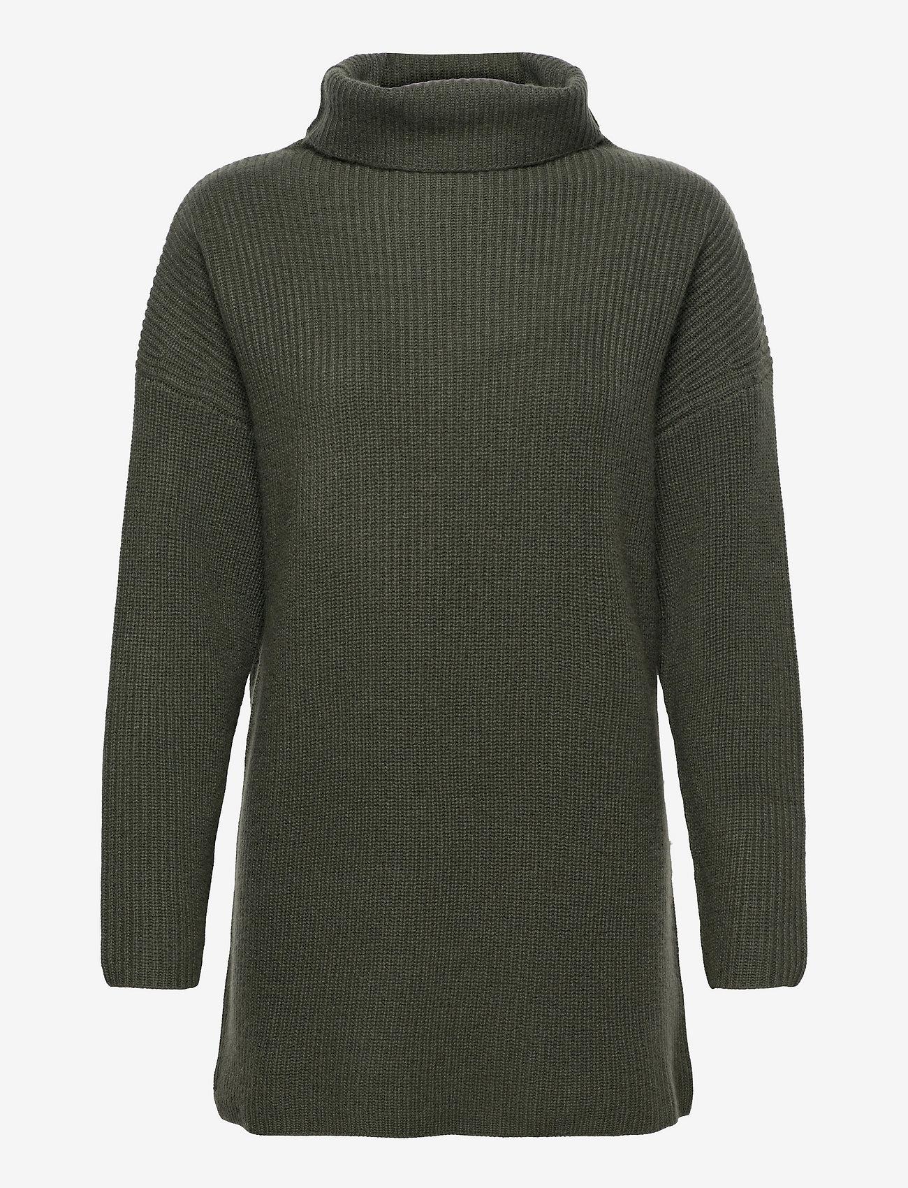 Davida Cashmere - Oversized Rib Sweater - turtlenecks - army green - 0