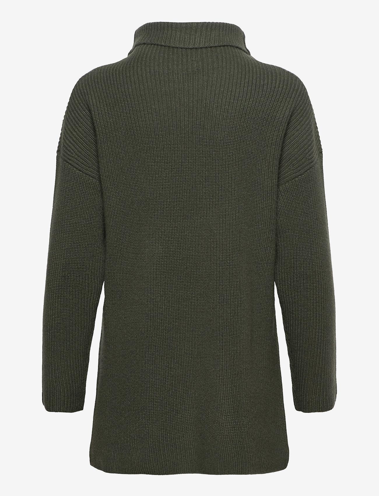 Davida Cashmere - Oversized Rib Sweater - turtlenecks - army green - 1