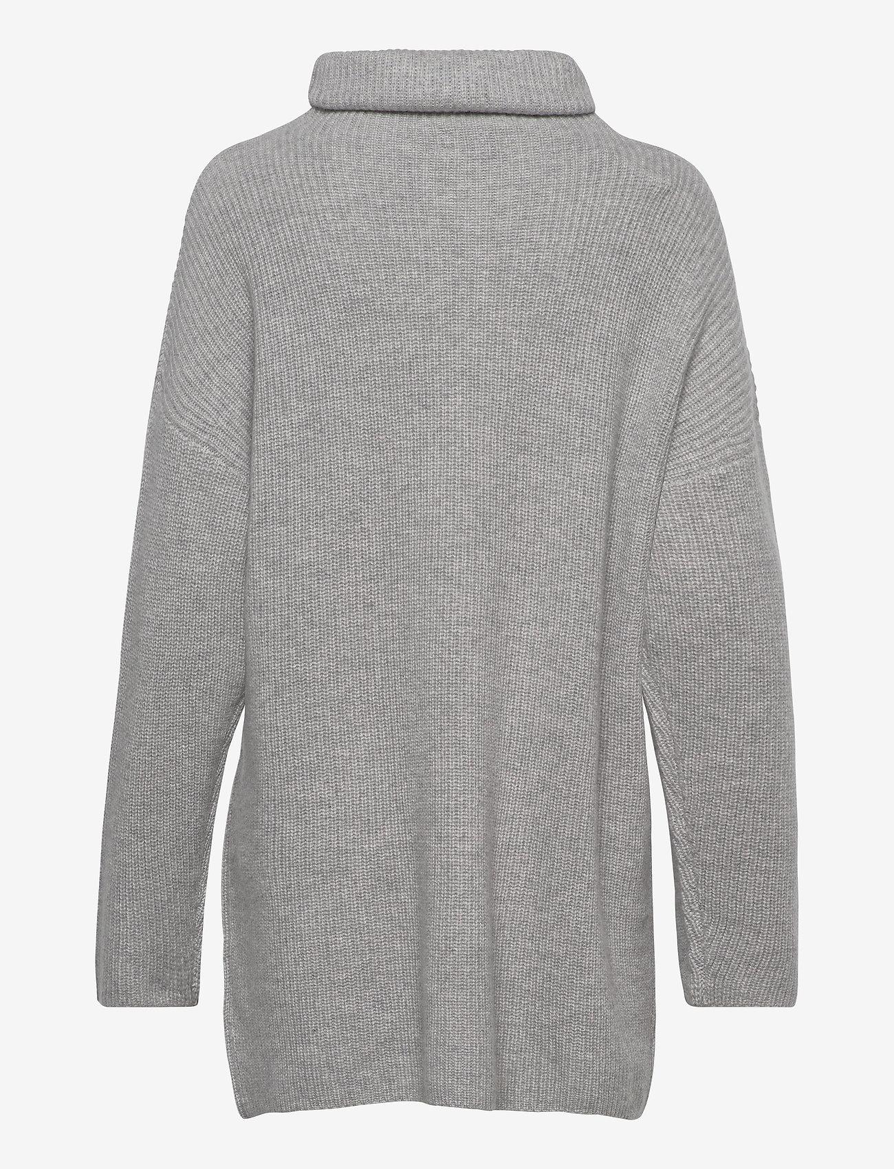 Davida Cashmere - Oversized Rib Sweater - cashmere - light grey - 1