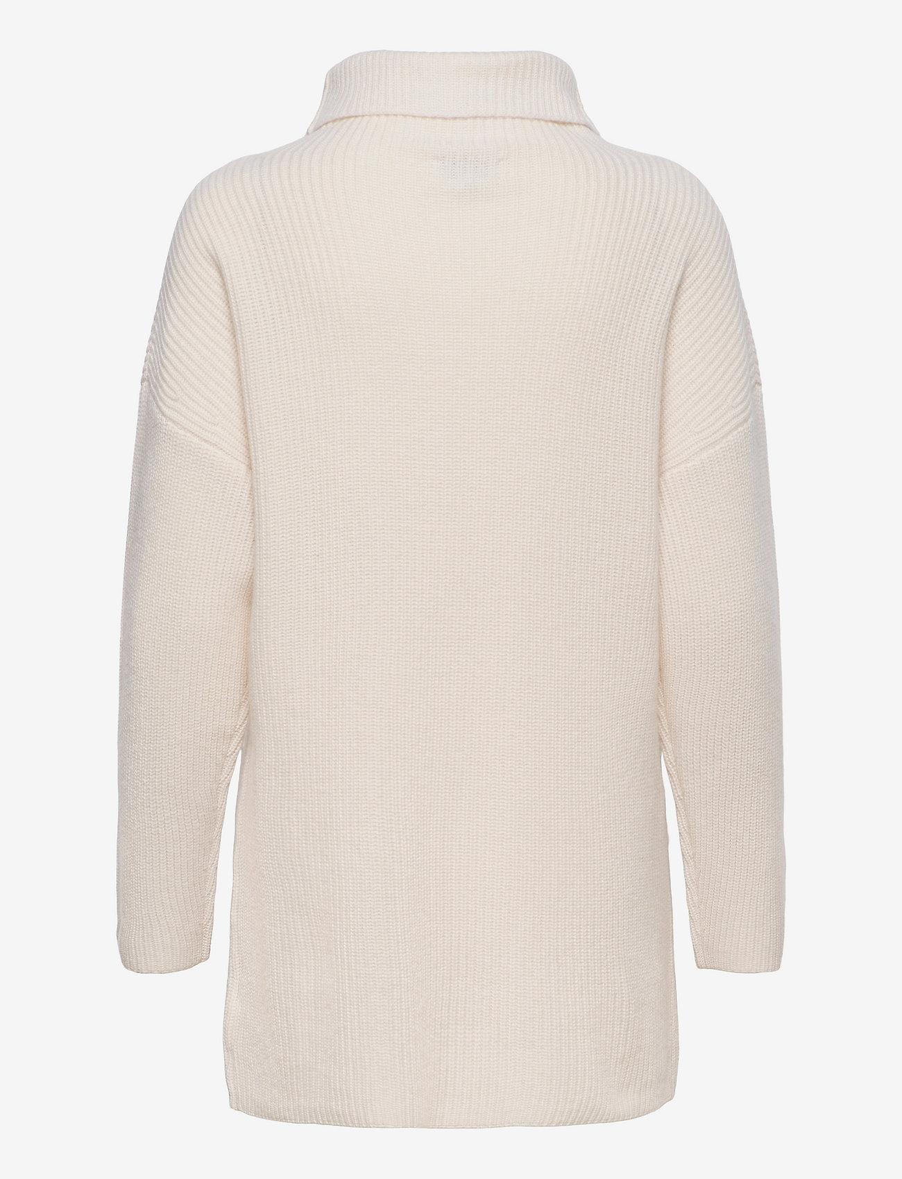 Davida Cashmere - Oversized Rib Sweater - turtlenecks - white - 1
