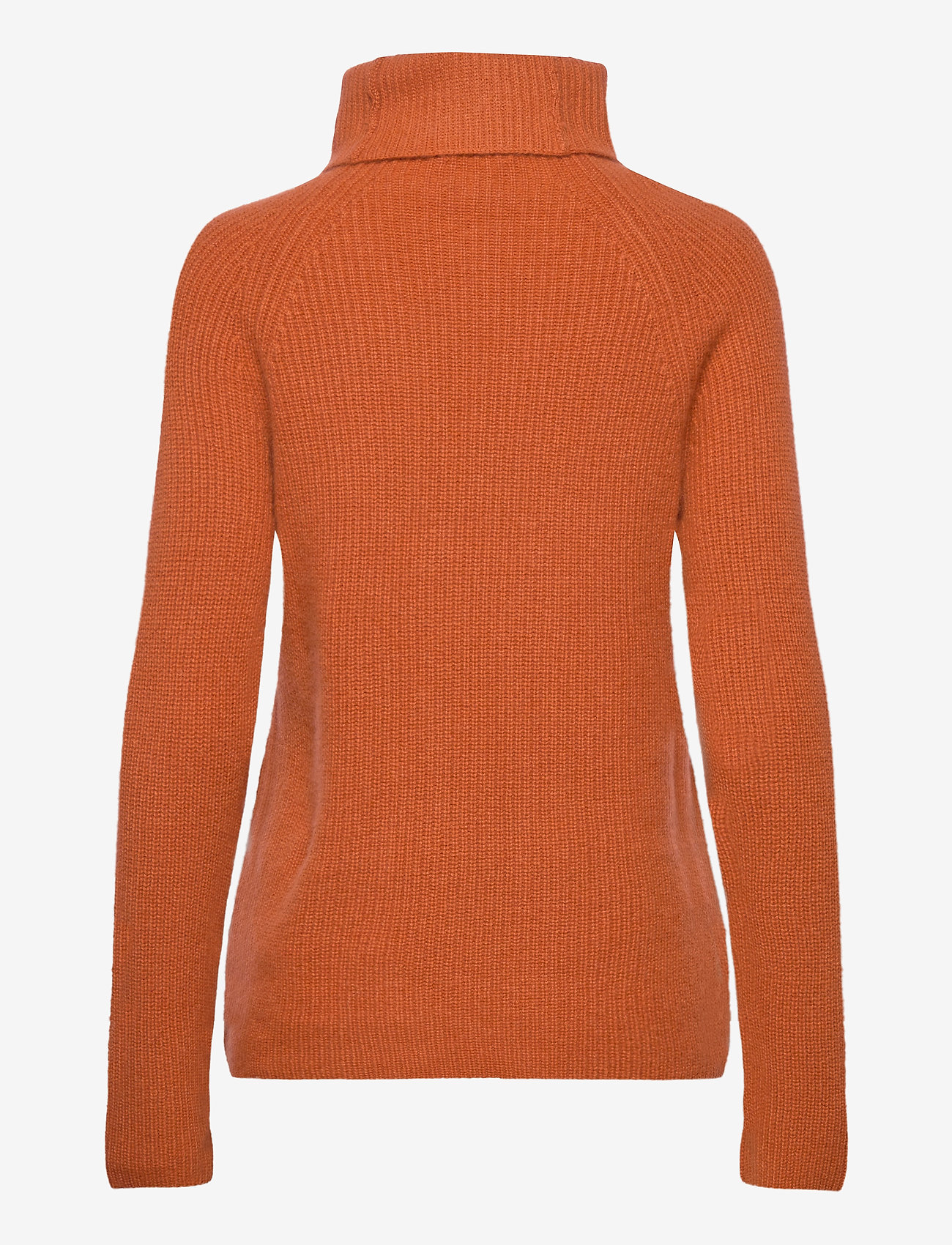 Davida Cashmere - Raglan Rib Loose Fit Sweater - cashmere - dark rust - 1
