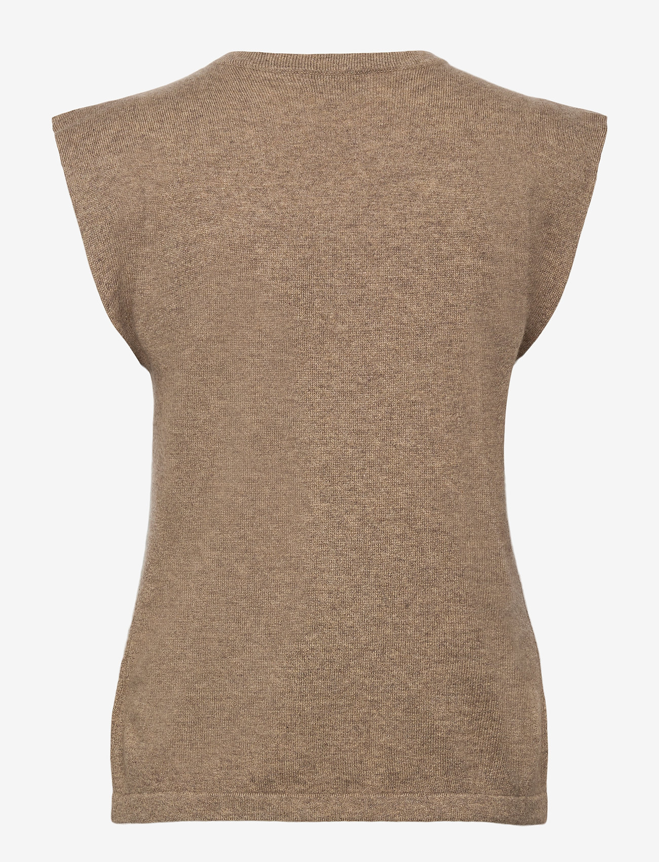 Davida Cashmere - Shoulder Detail Tank - knitted vests - mink - 1