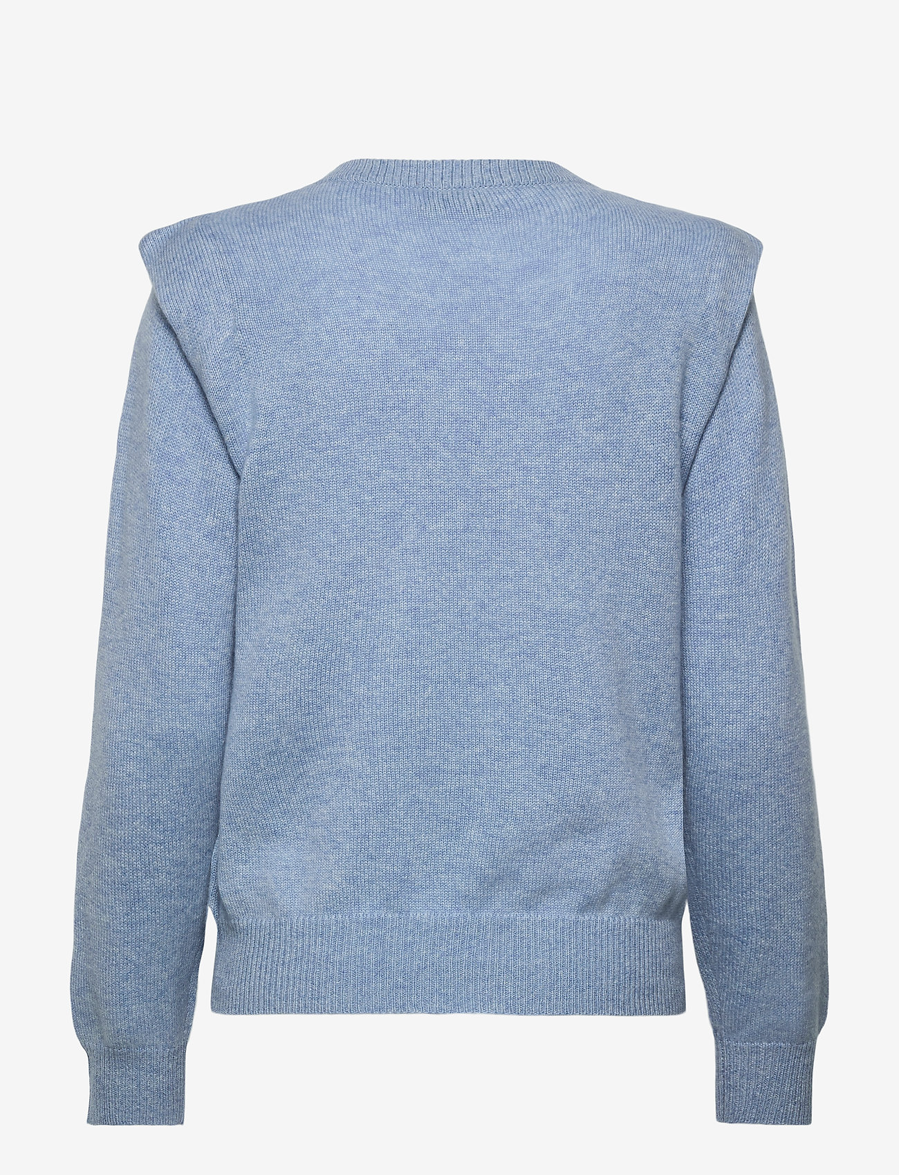 Davida Cashmere - Shoulder Fold Sweater - sweaters - dusty light blue - 1