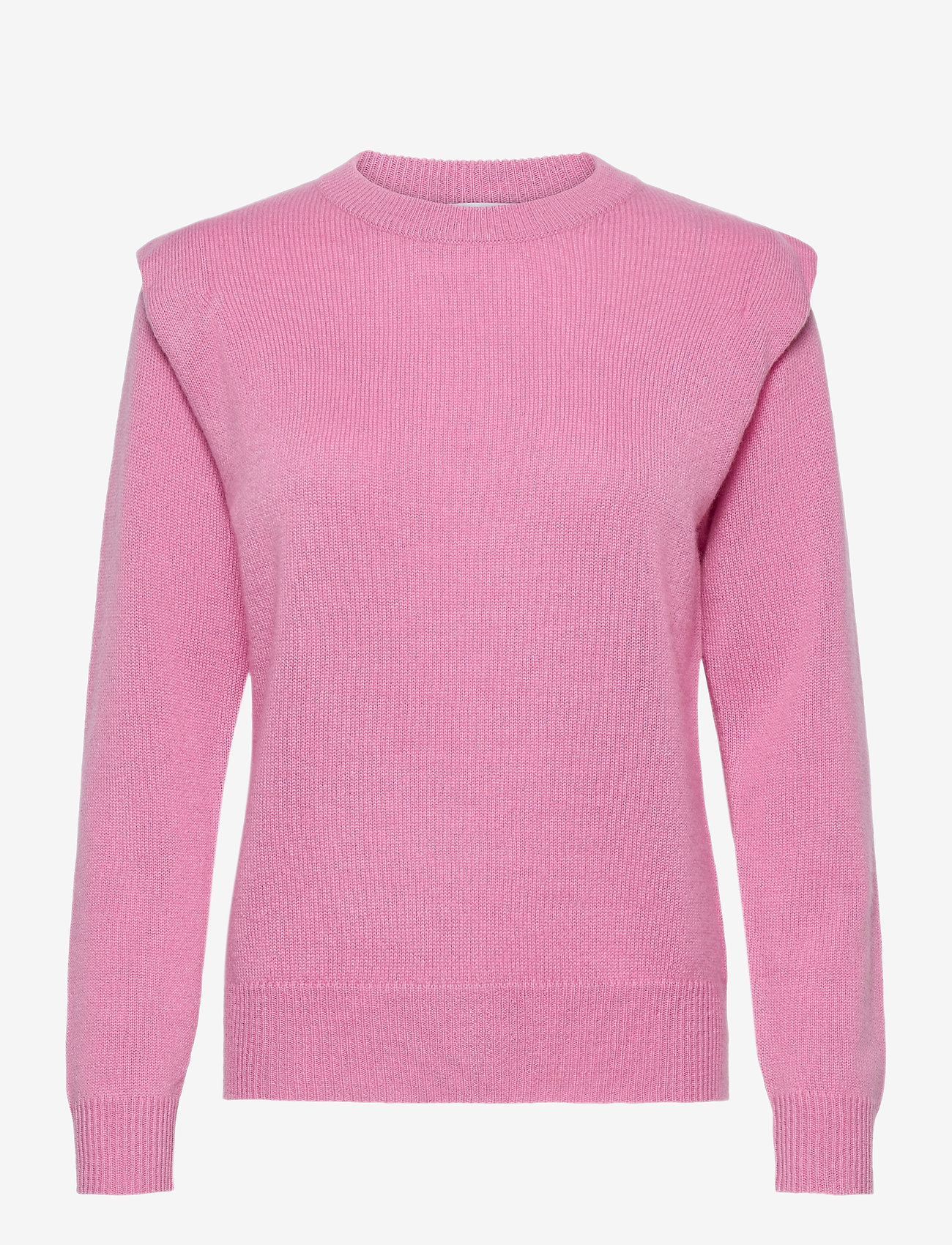 Davida Cashmere - Shoulder Fold Sweater - sweaters - rose pink - 0