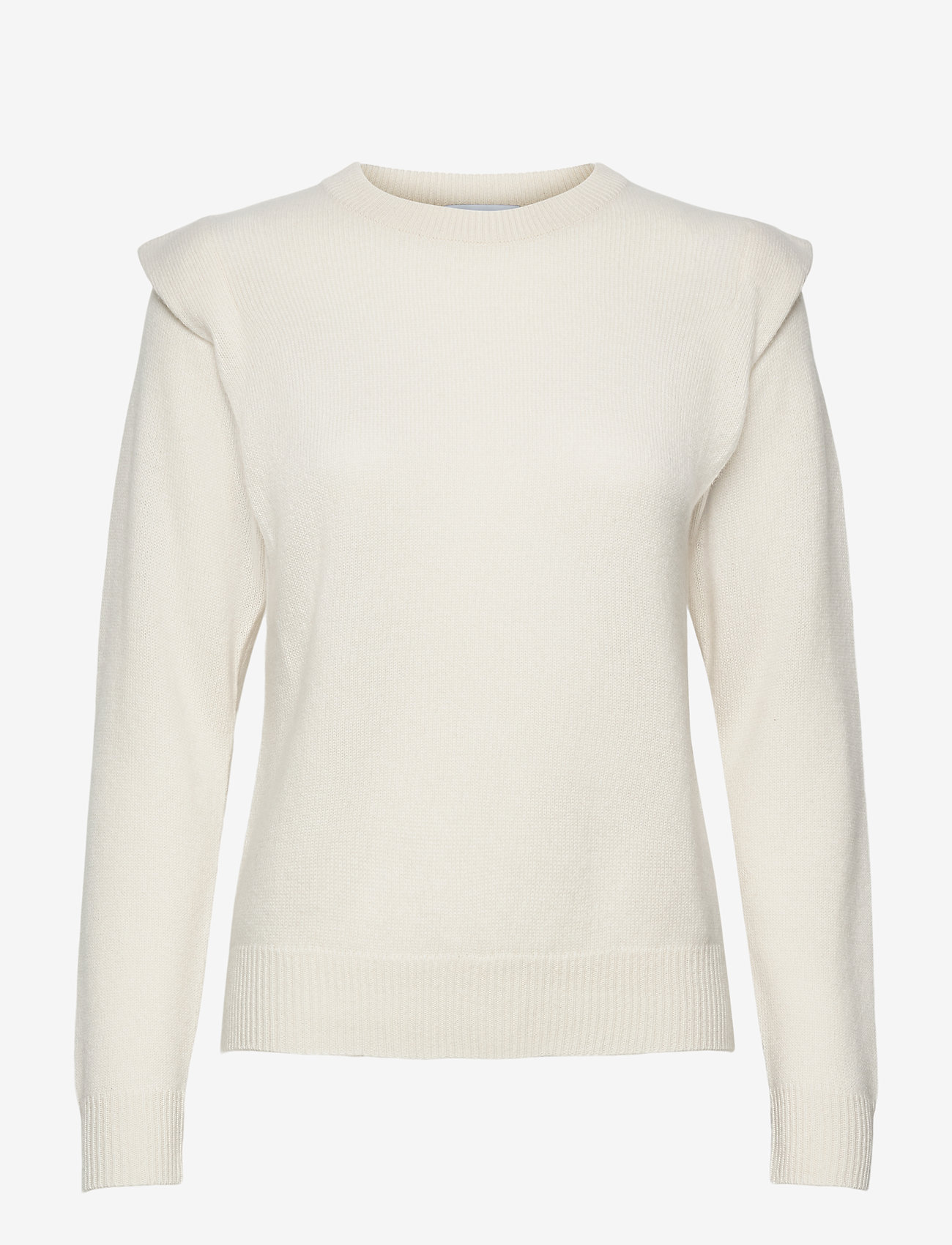 Davida Cashmere - Shoulder Fold Sweater - sweaters - white - 1