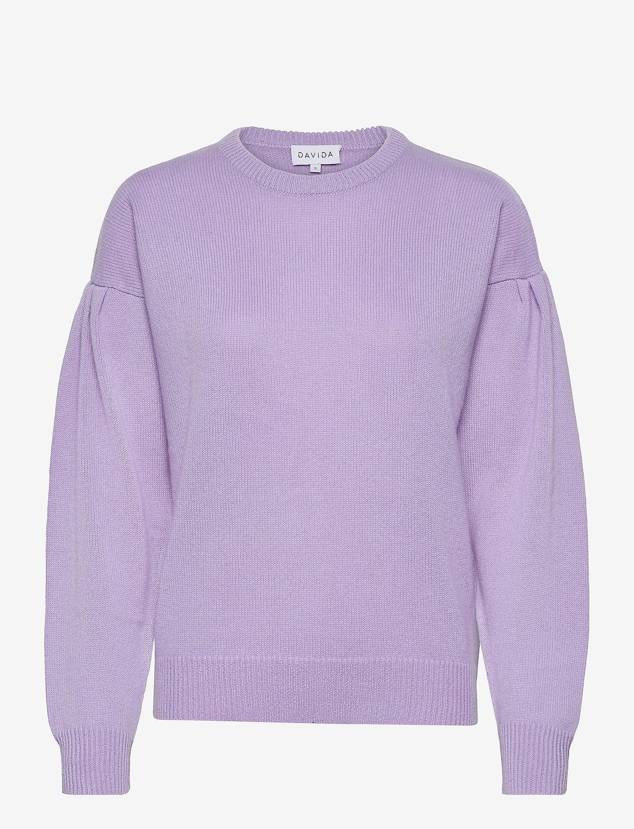 Davida Cashmere - Volume Sleeve Sweater - sweaters - lavender - 1