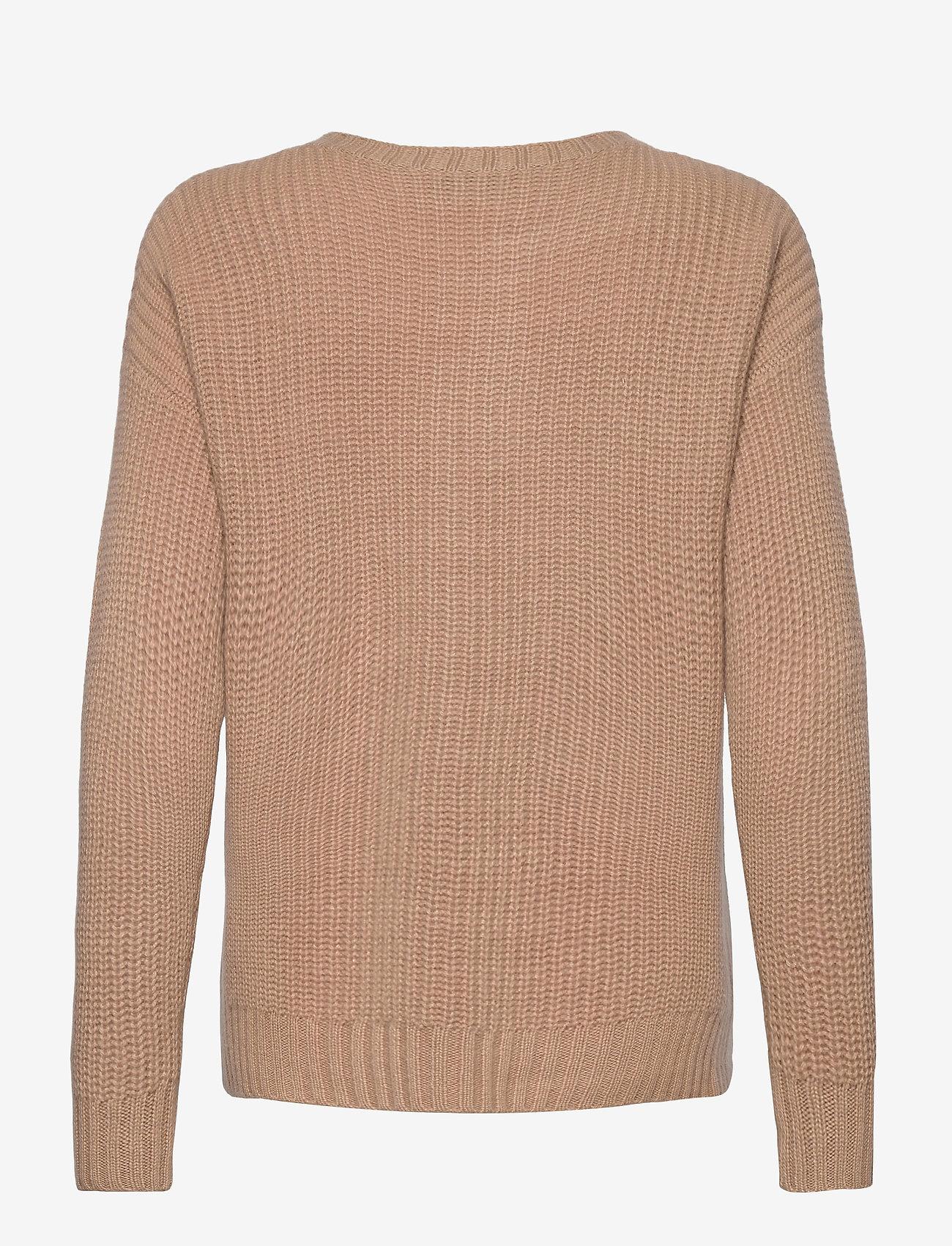Davida Cashmere - Chunky Knit Rib Sweater - jumpers - toffee - 1