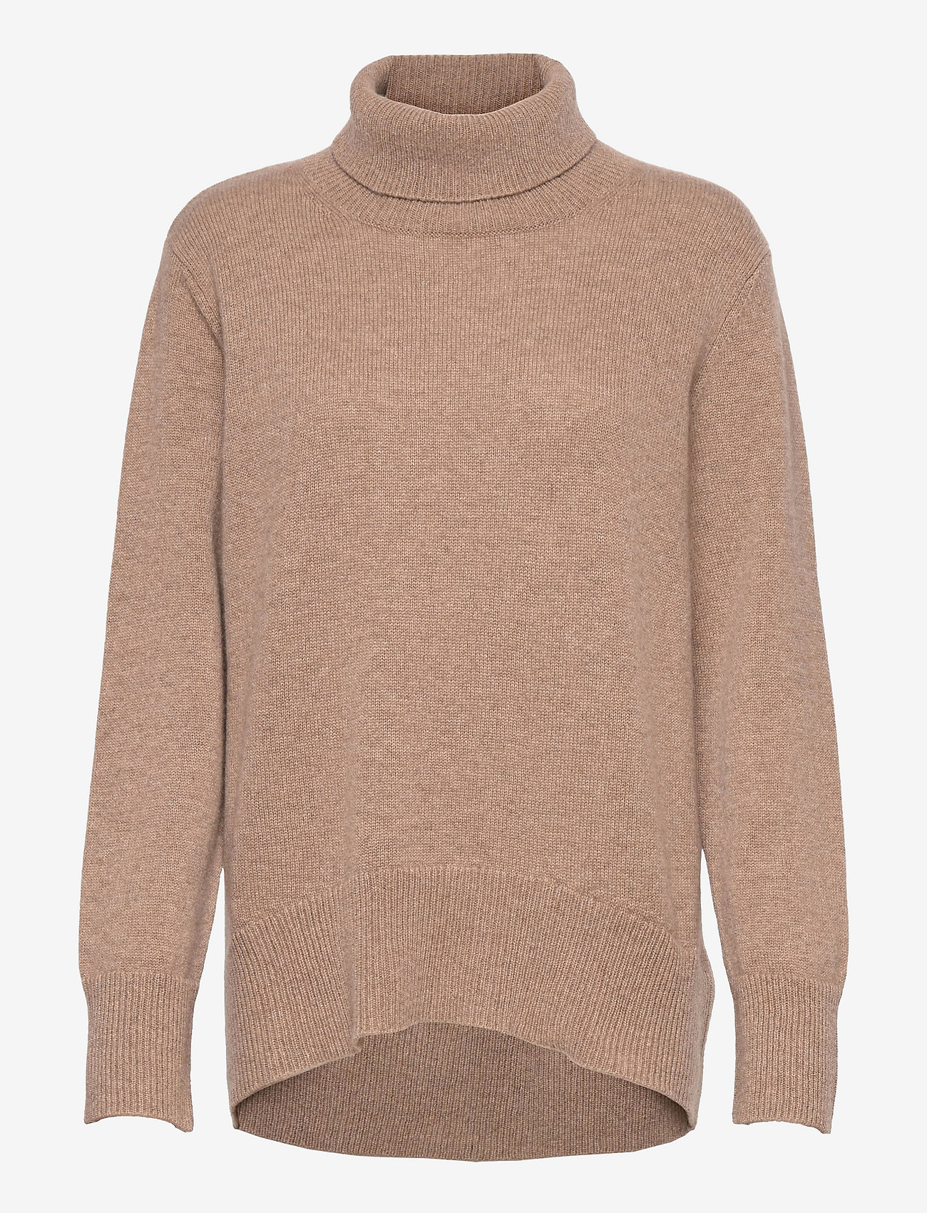 Davida Cashmere - High Collar Oversized Sweater - turtlenecks - mink - 0