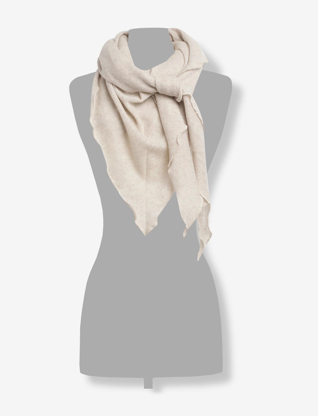 Davida Cashmere - Triangle Scarf - tørklæder - light beige