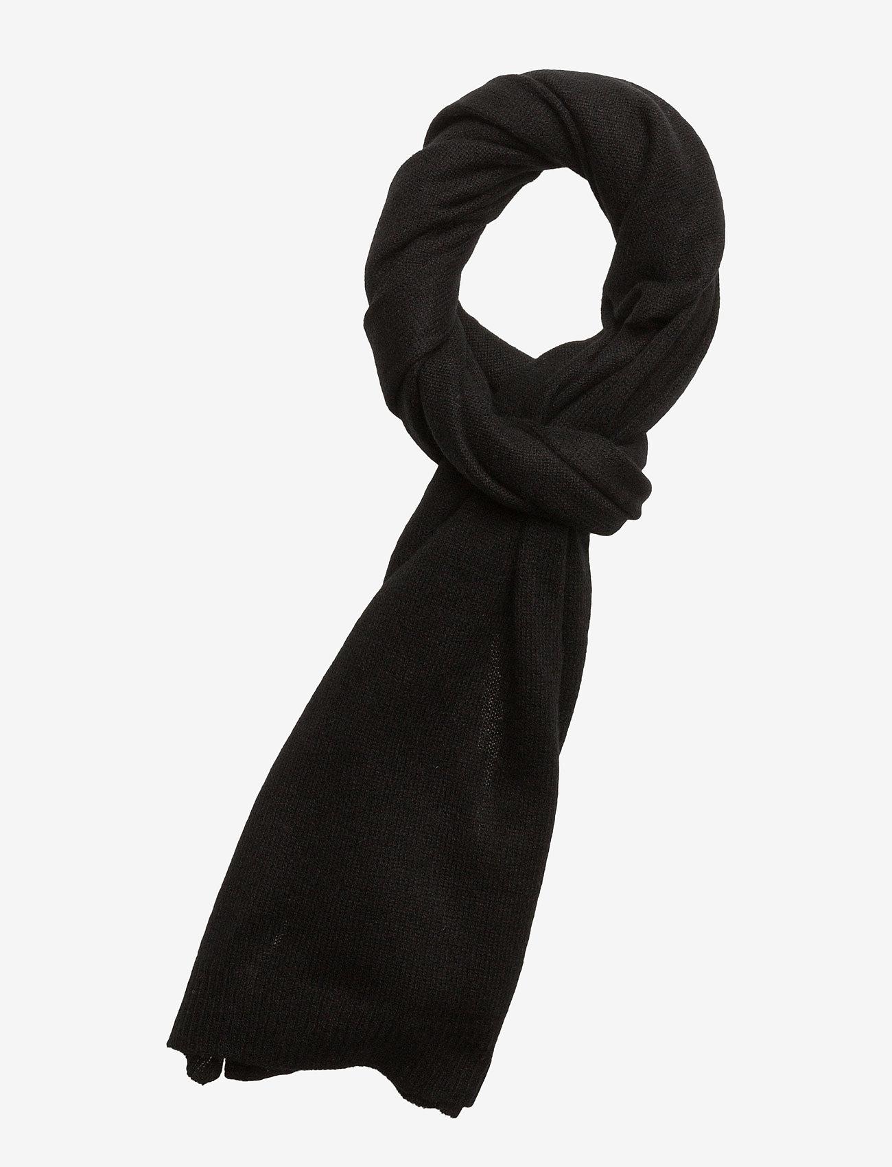 Davida Cashmere - Rectangular Scarf - winter scarves - black - 0