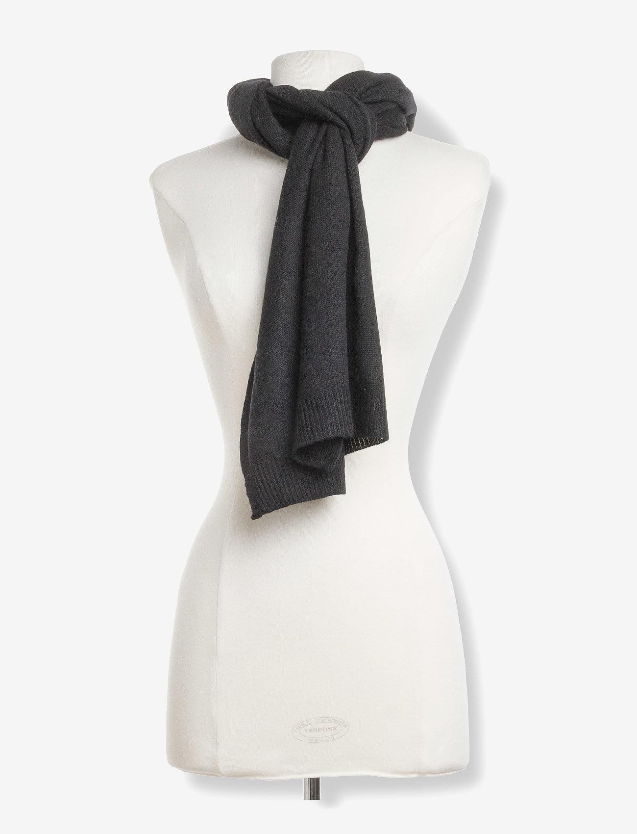 Davida Cashmere - Rectangular Scarf - winter scarves - black - 1