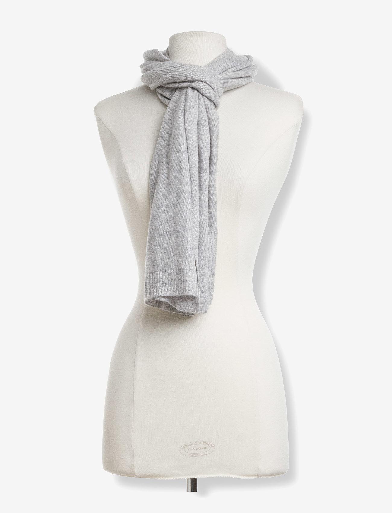 Davida Cashmere - Rectangular Scarf - winter scarves - light grey - 1
