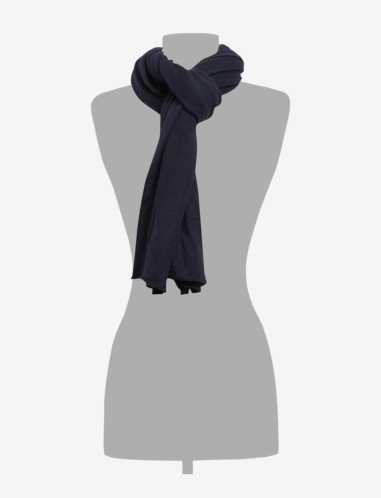 Davida Cashmere - Big Classic Scarf - scarves - navy - 1