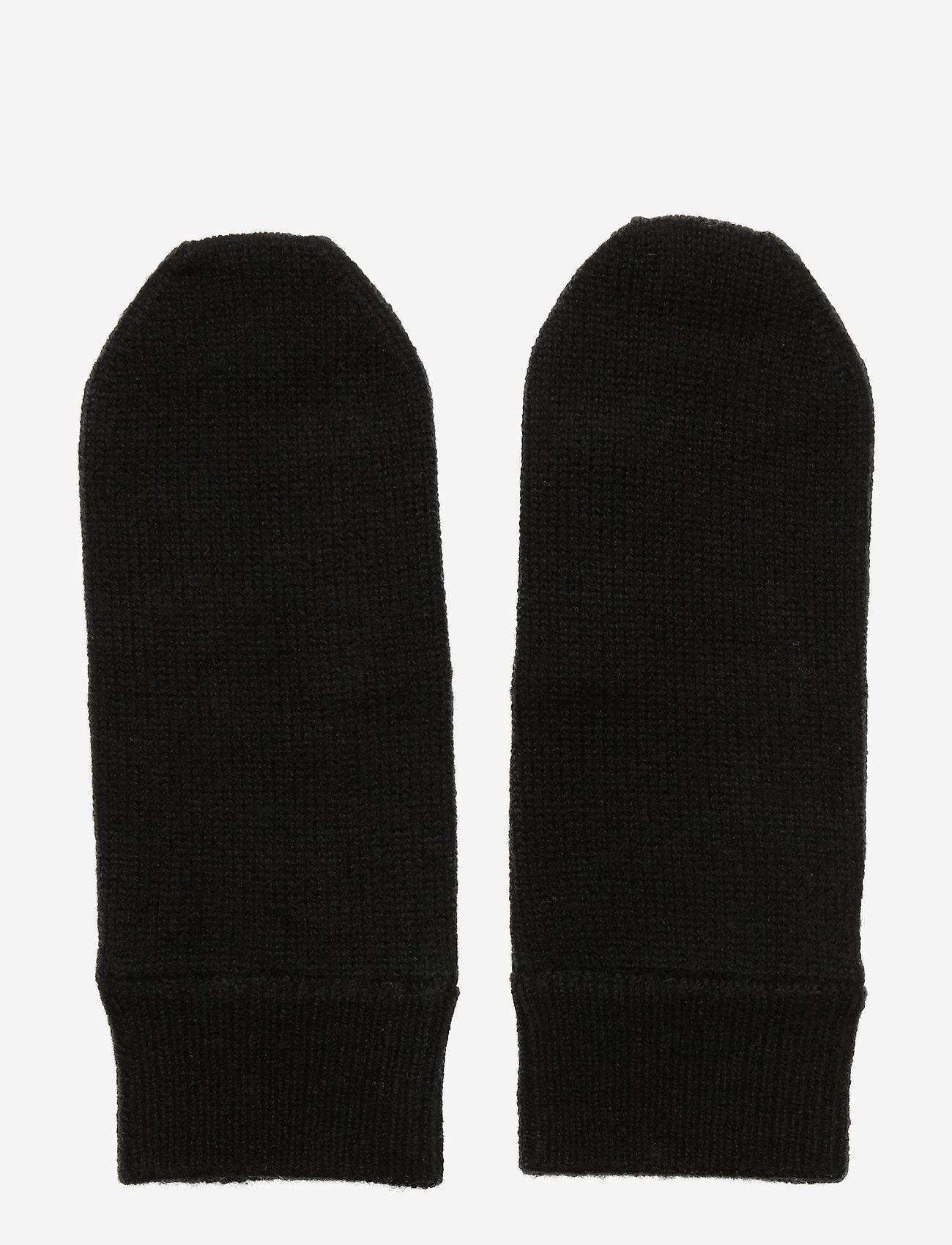 Davida Cashmere - Mittens - accessories - black - 0