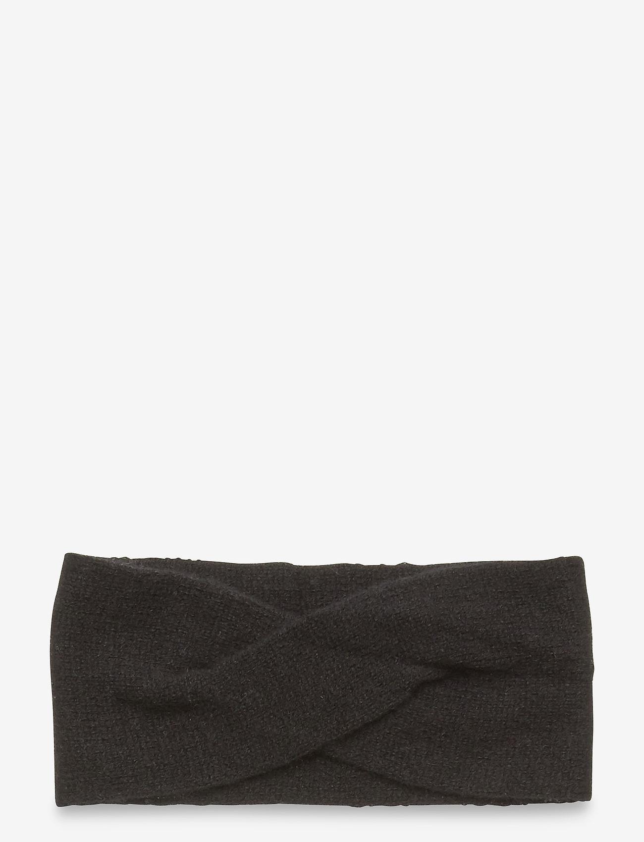 Davida Cashmere - Wrap Headband - hårbånd - black - 0