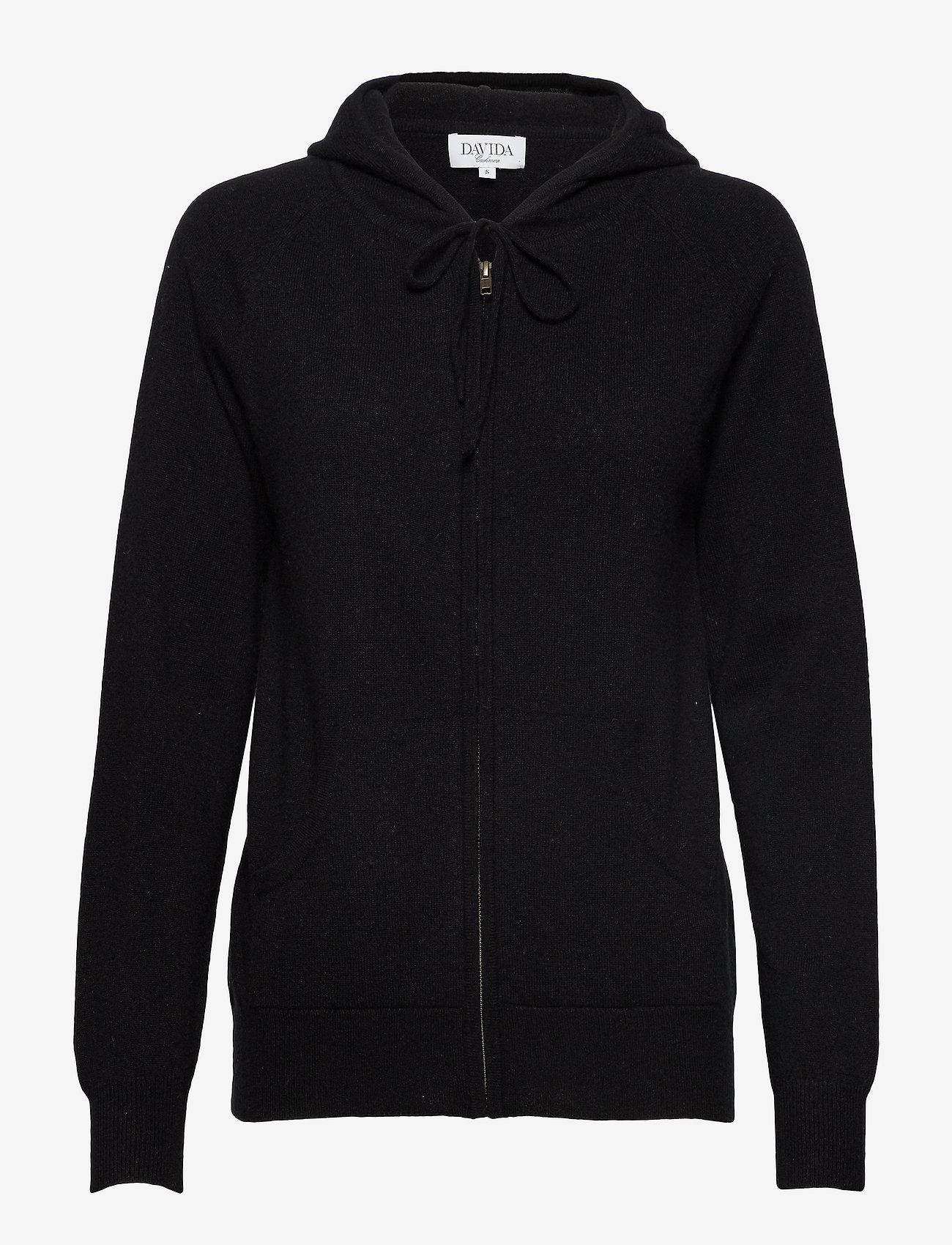 Davida Cashmere - Hoodie - sweatshirts & hoodies - black - 0