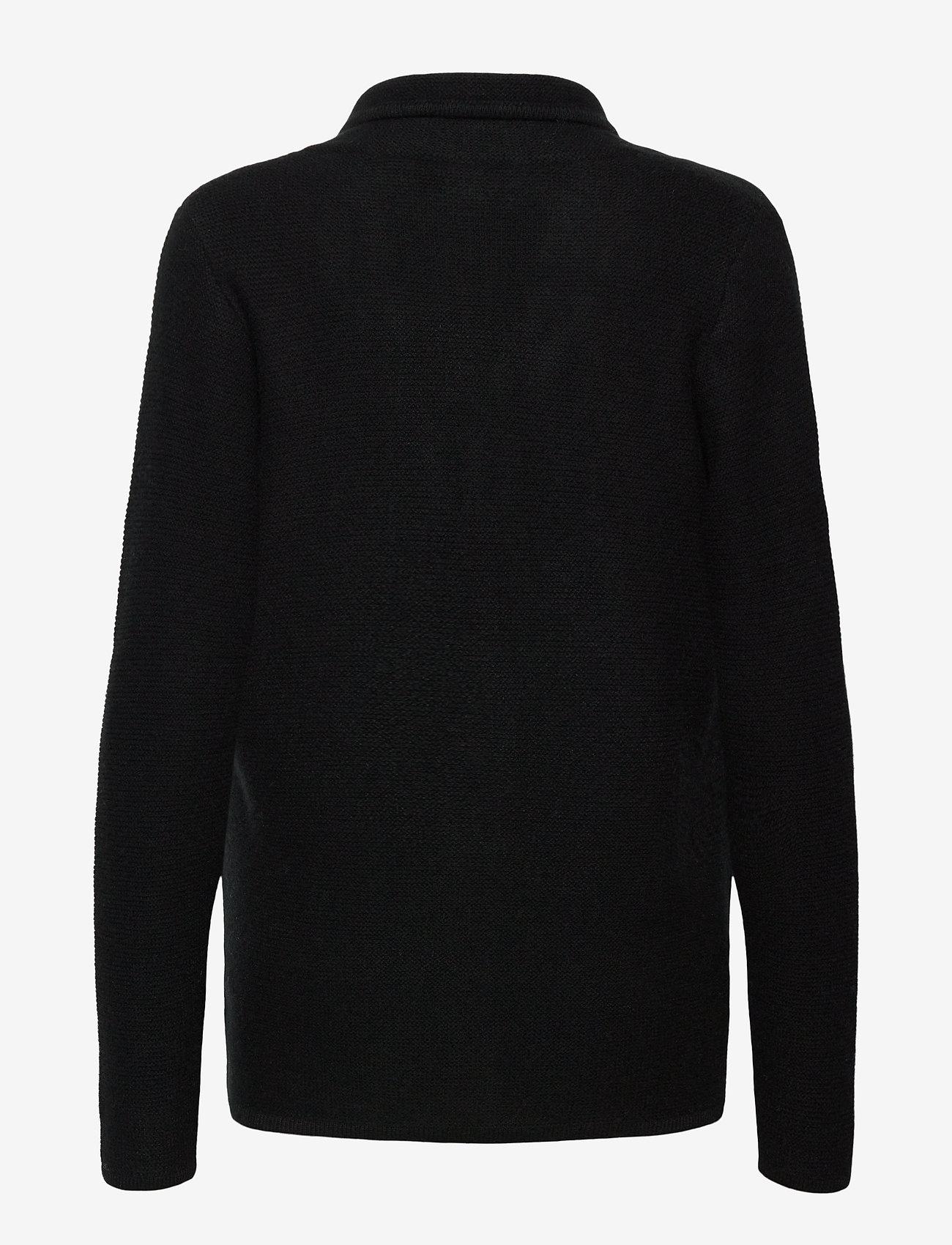 Davida Cashmere - Shawl Collar Jacket - cardigans - black - 1