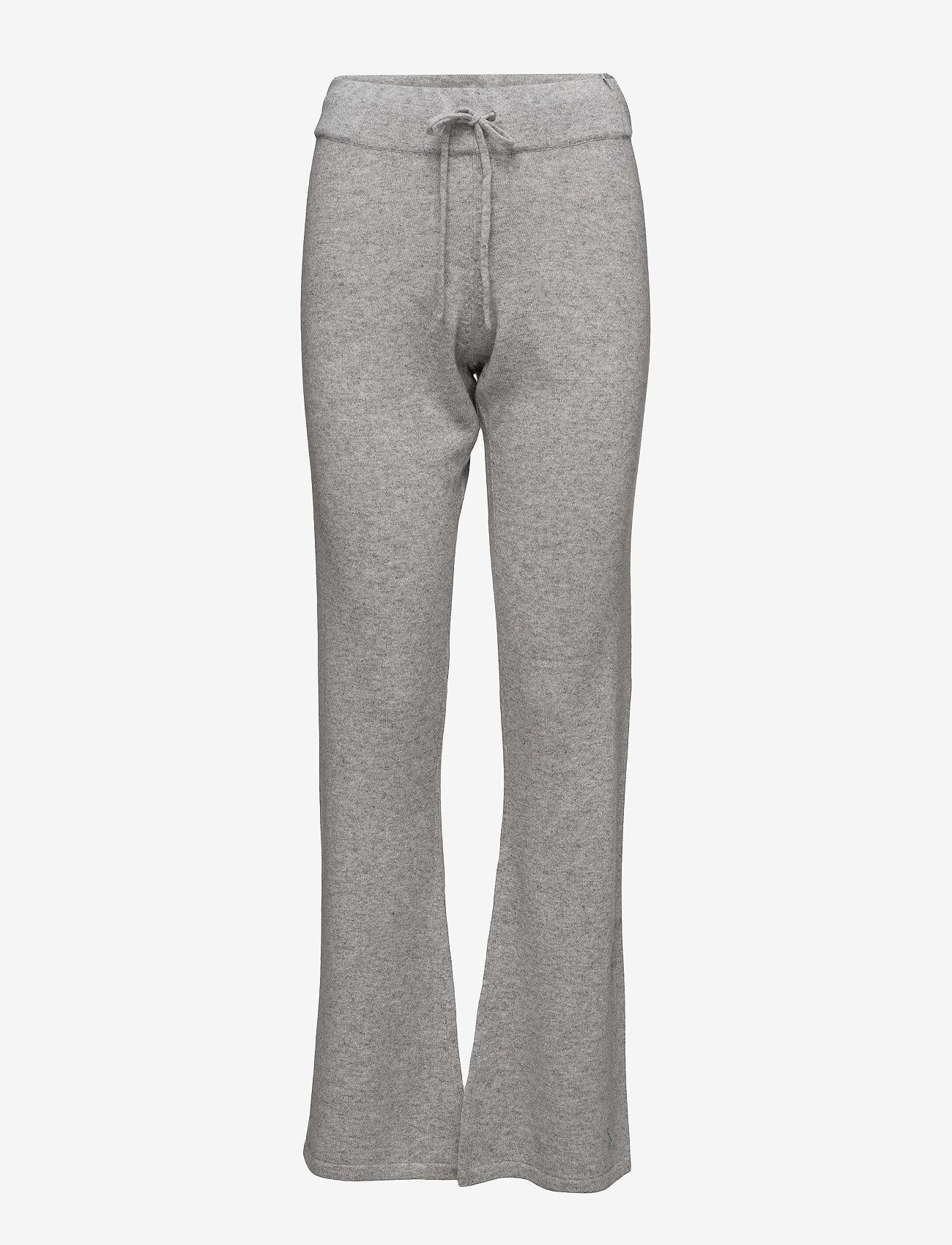 Davida Cashmere - Pants - bukser med brede ben - light grey - 1
