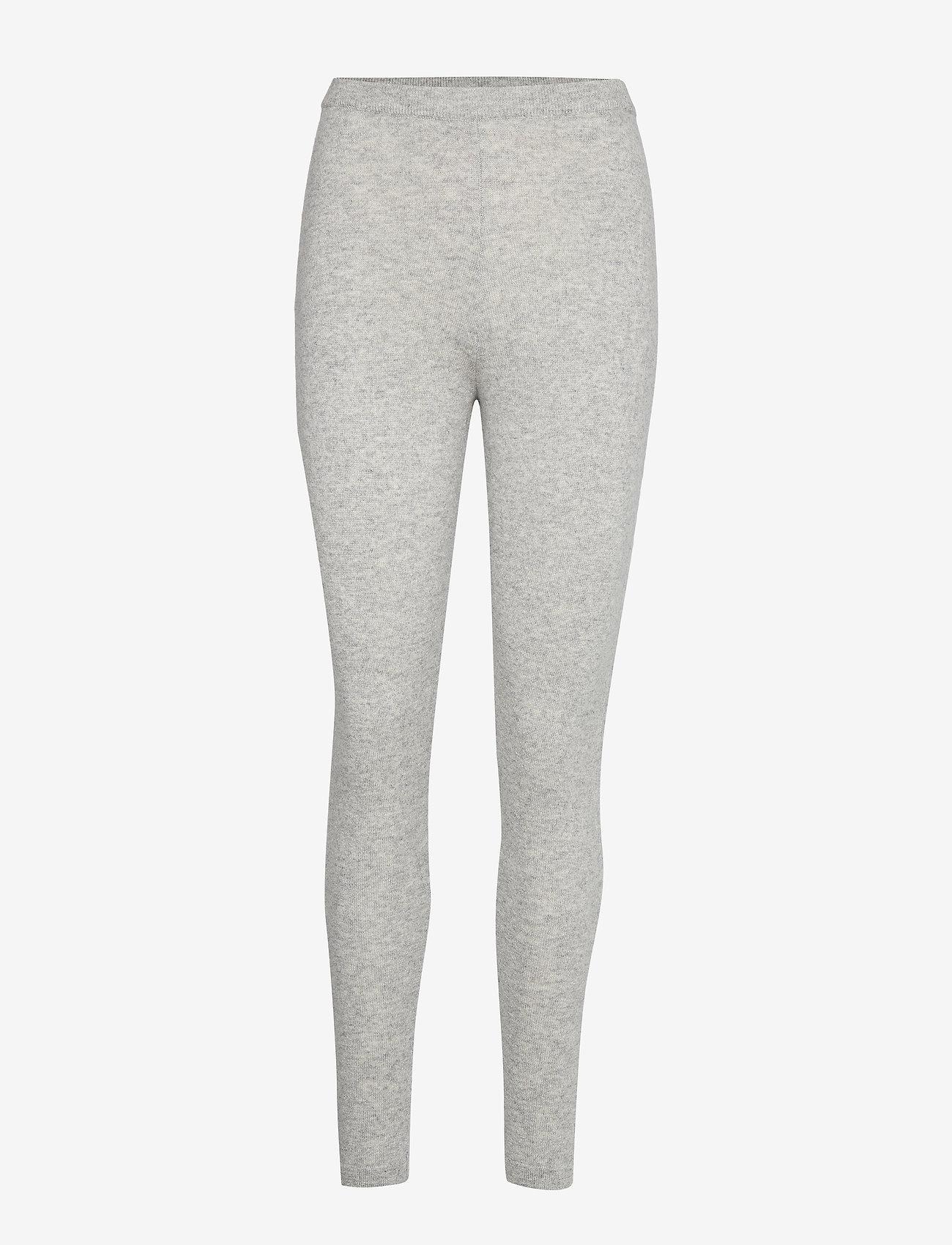 Davida Cashmere - Panel Leggings - leggings - light grey - 0
