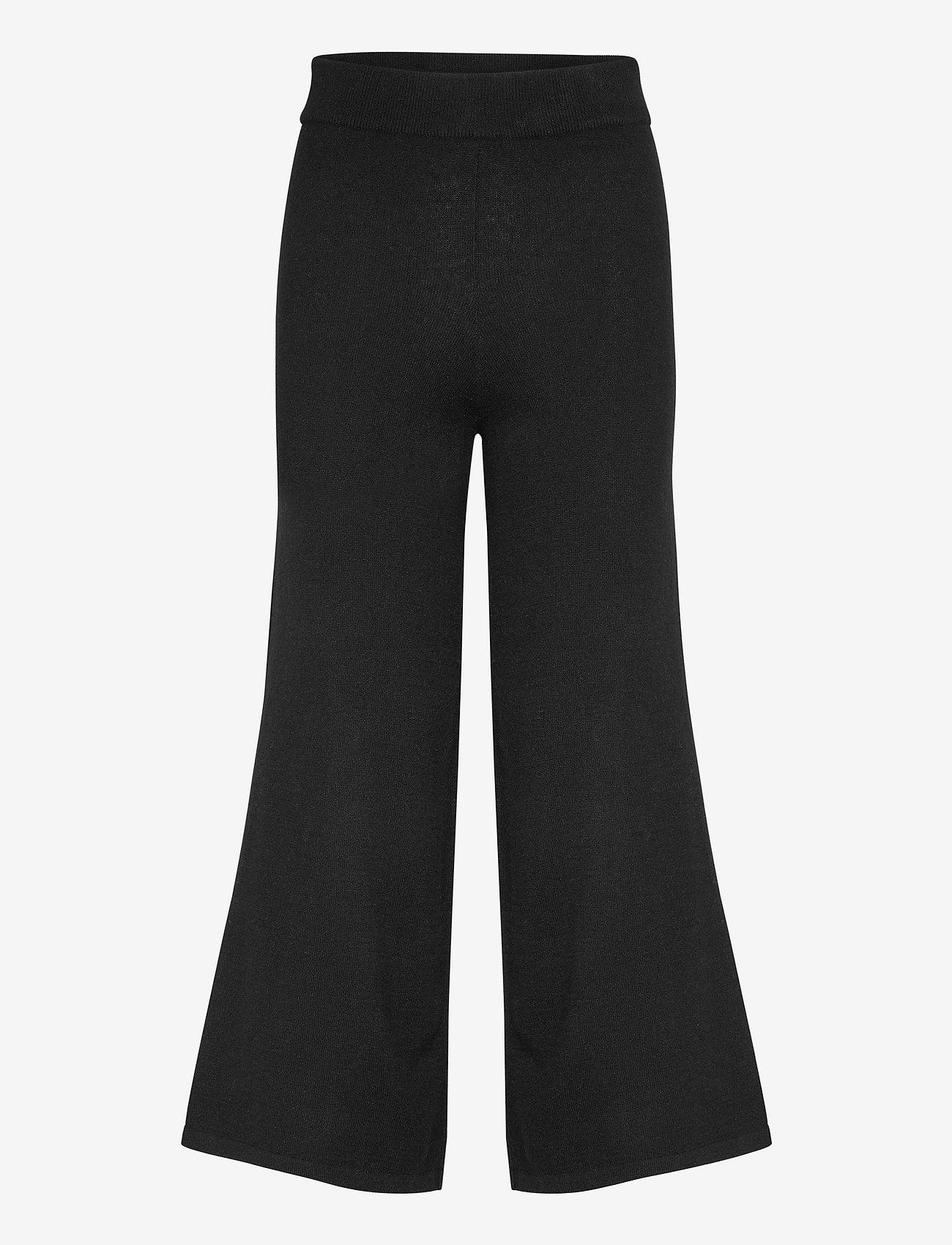 Davida Cashmere - Culotte Pants - wide leg trousers - black - 1