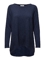 Loose Sweater - DENIM BLUE