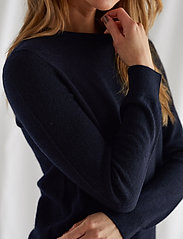 Davida Cashmere - Basic Sweater - sweaters - navy - 0