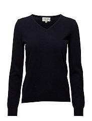 Basic sweater V-neck - NAVY